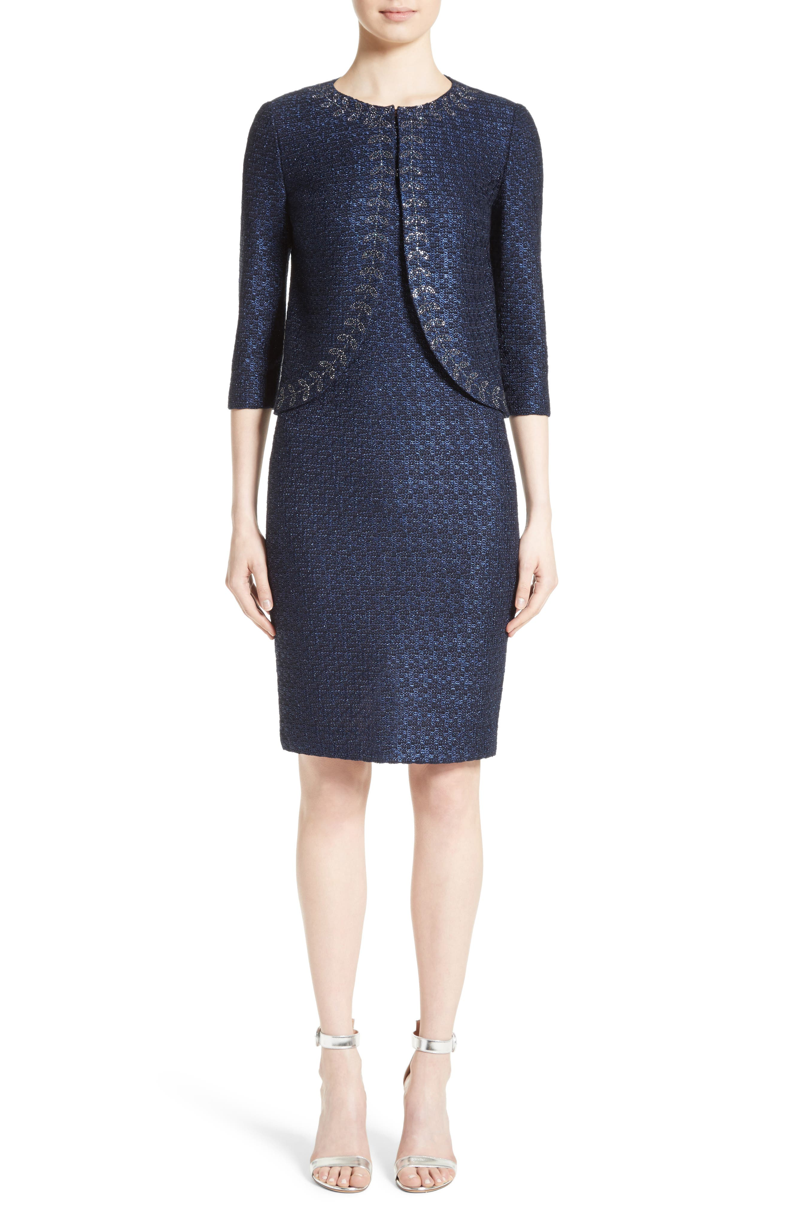 Alternate Image 7  - St. John Collection Jiya Sparkle Knit Jacket