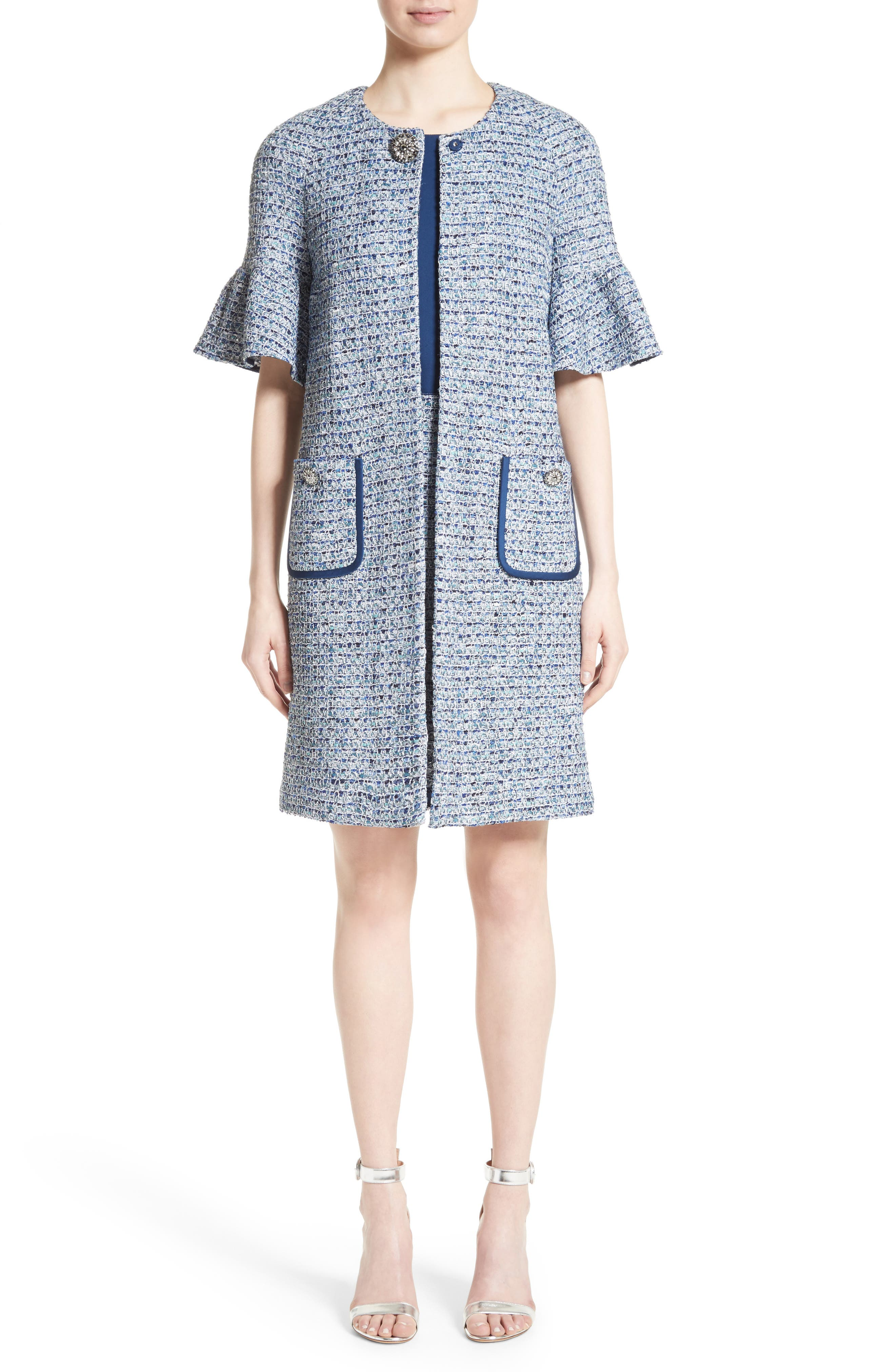 Alternate Image 7  - St. John Collection Kiara Tweed A-Line Dress