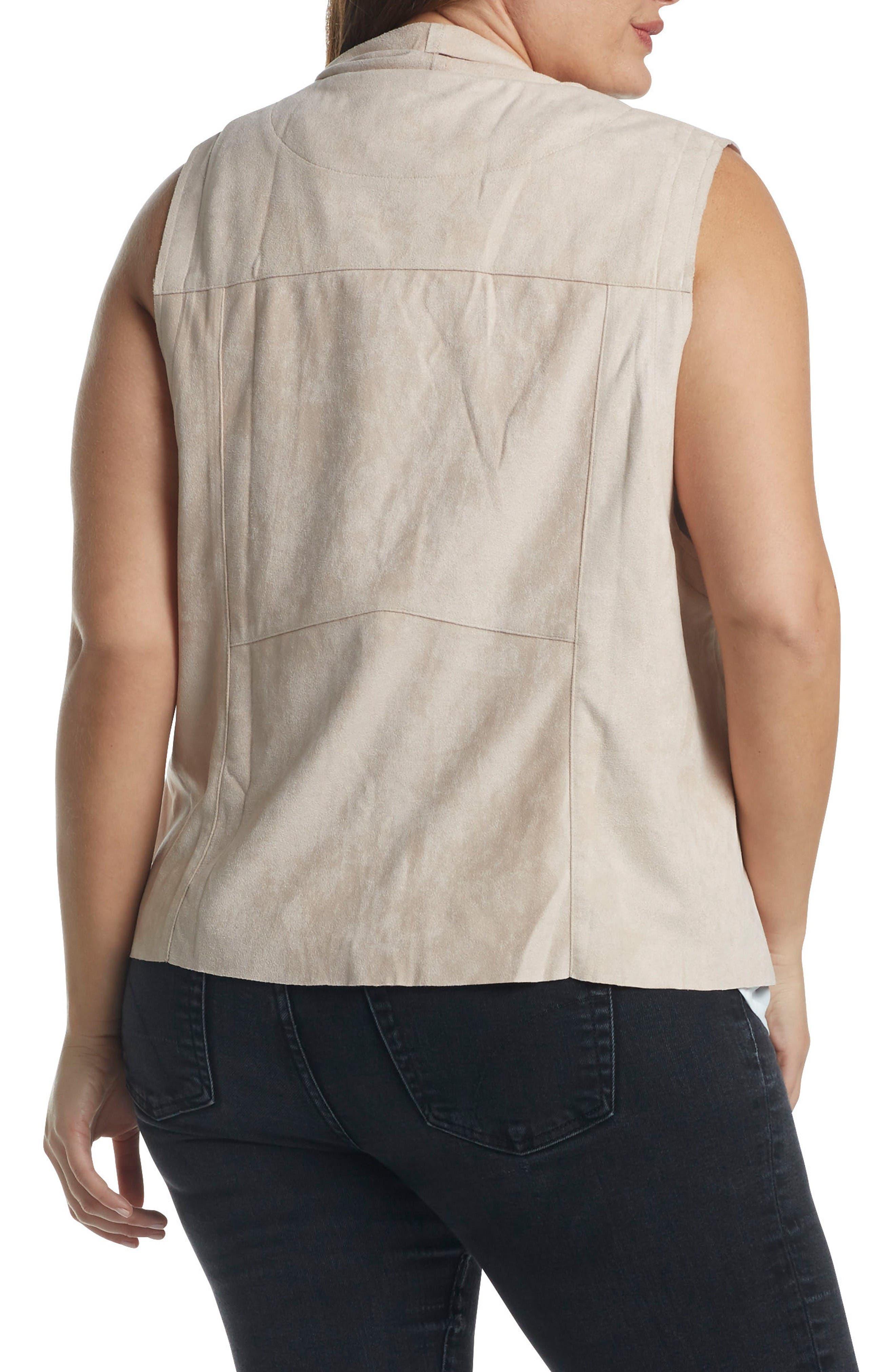 Alternate Image 2  - Tart Paz Faux Suede Drape Front Vest