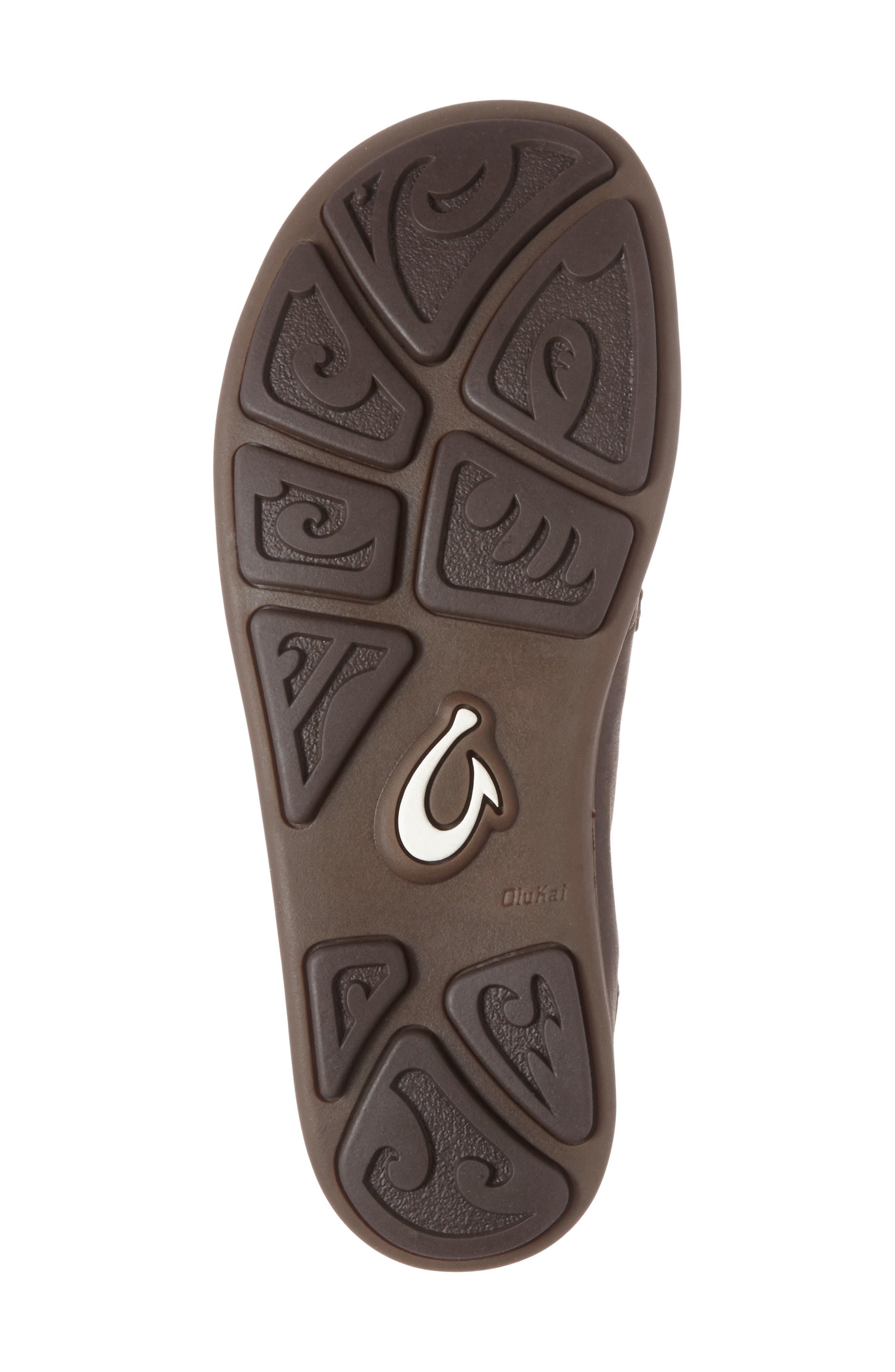 'Moloa' Water Resistant Slip-On,                             Alternate thumbnail 4, color,                             Dark Wood/ Mustang