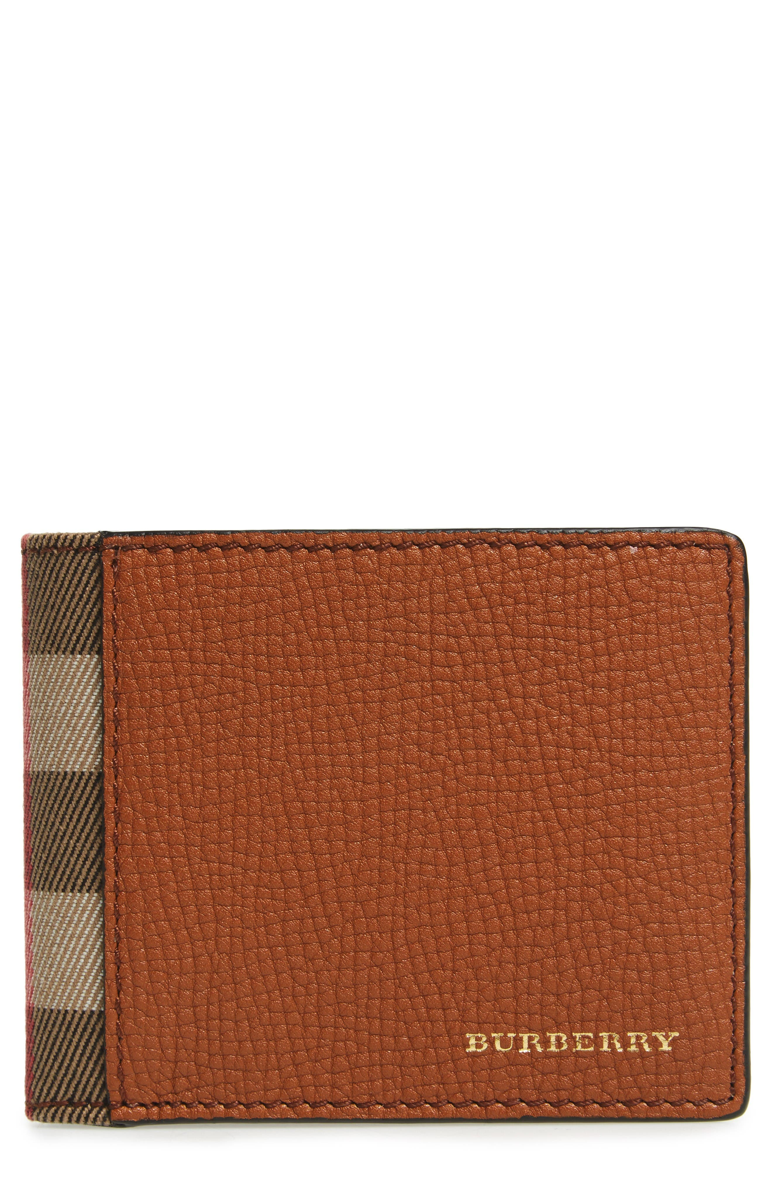 Leather Wallet,                         Main,                         color, Russet