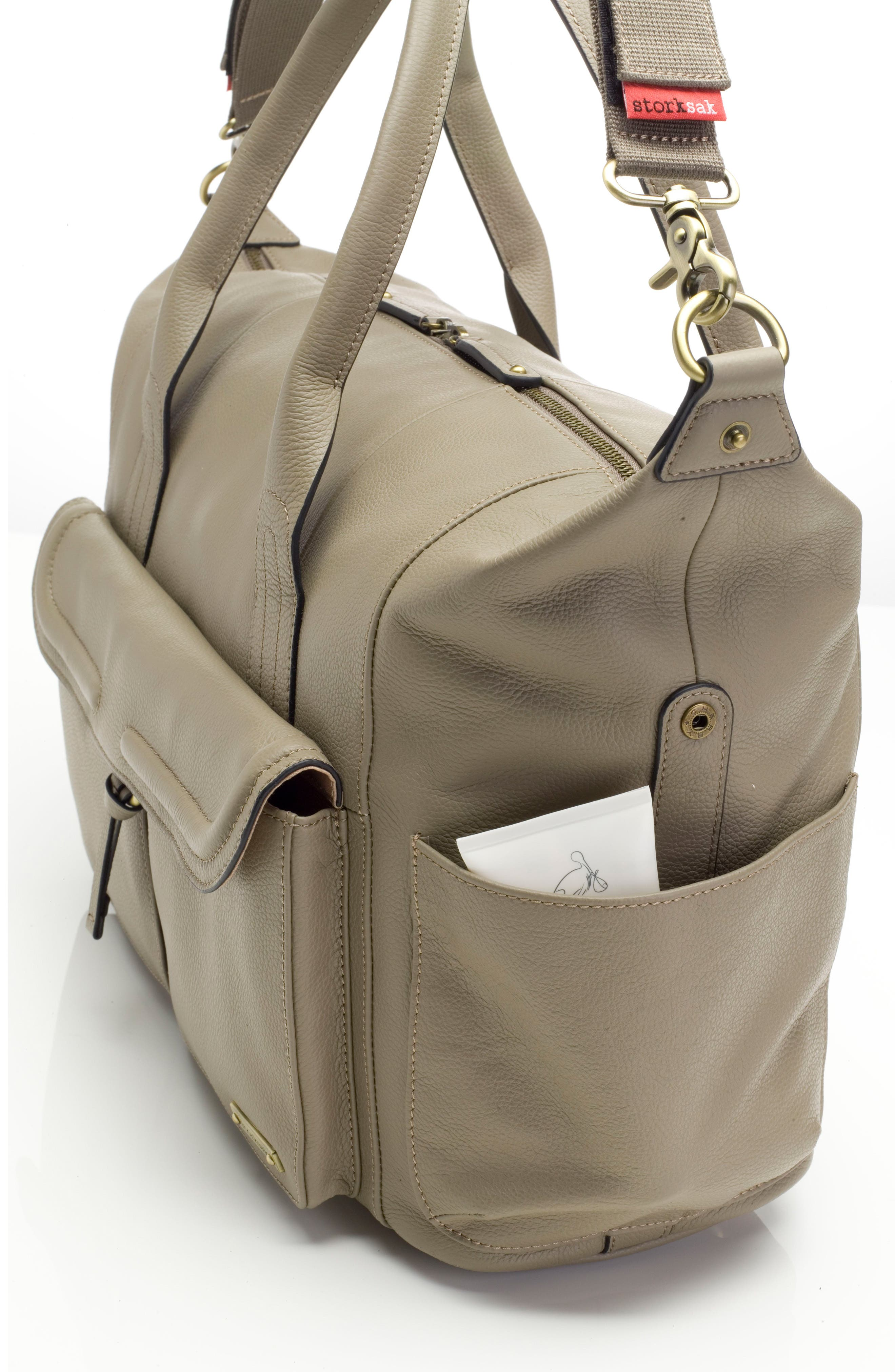 Alternate Image 5  - Storsak Leather Diaper Bag