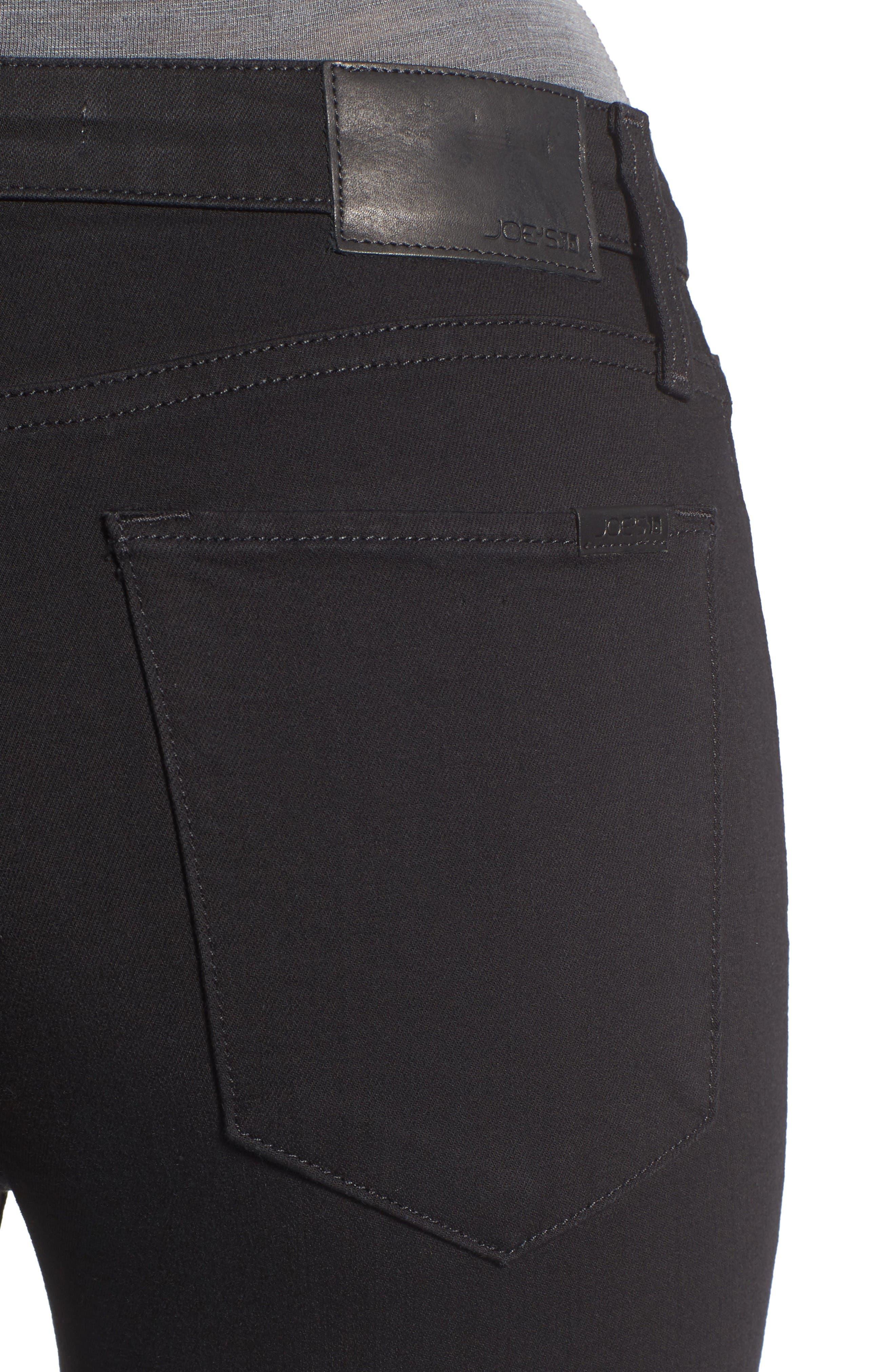 Charlie High Rise Crop Skinny Jeans,                             Alternate thumbnail 4, color,                             Regan