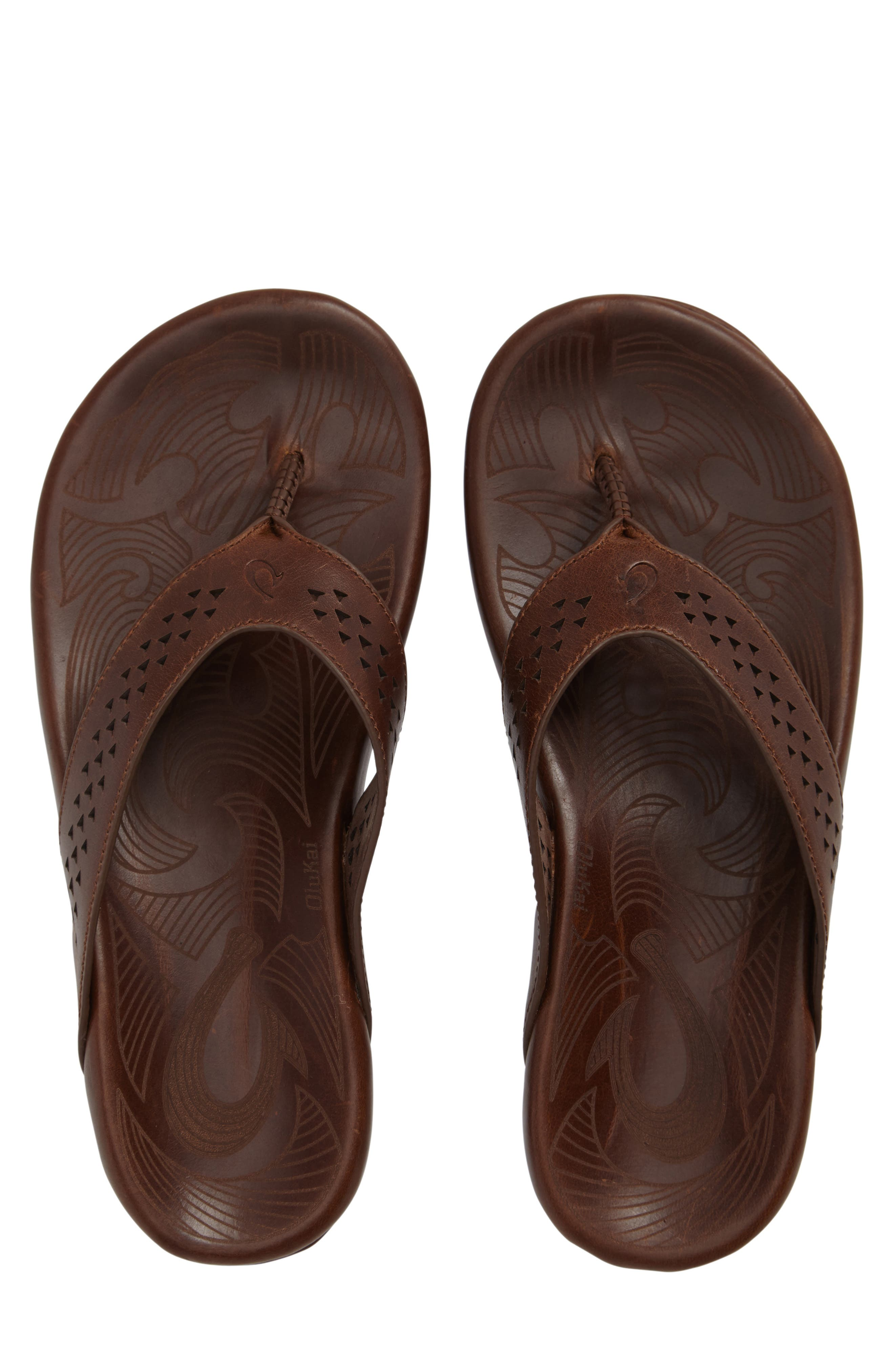 Kohana Flip Flop,                             Main thumbnail 1, color,                             Toffee/ Toffee Leather