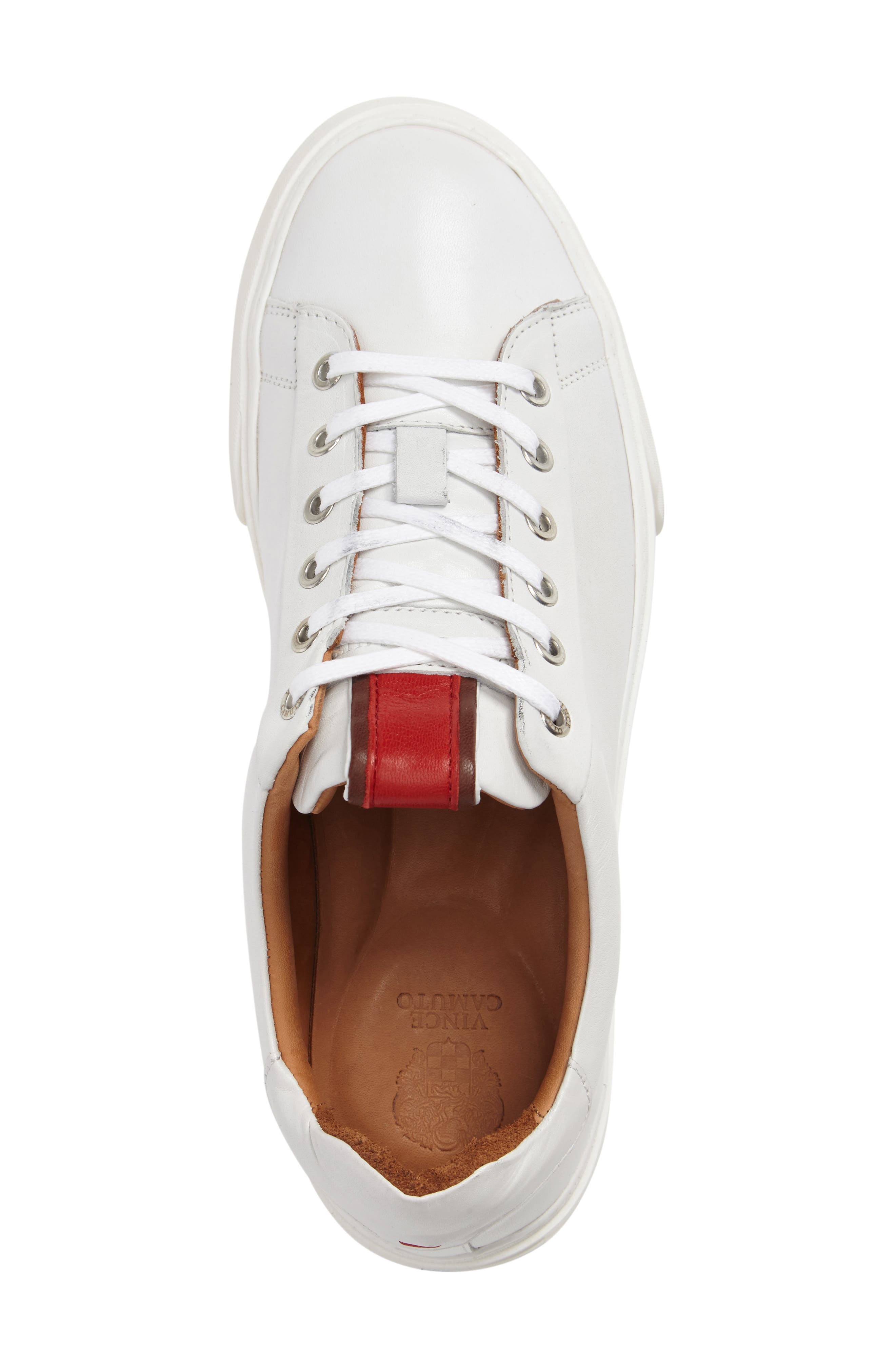 Quin Sneaker,                             Alternate thumbnail 3, color,                             White Leather