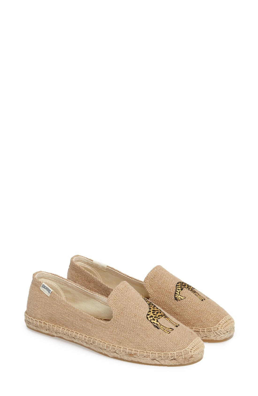 Giraffe Espadrille Flat,                             Alternate thumbnail 2, color,                             Natural