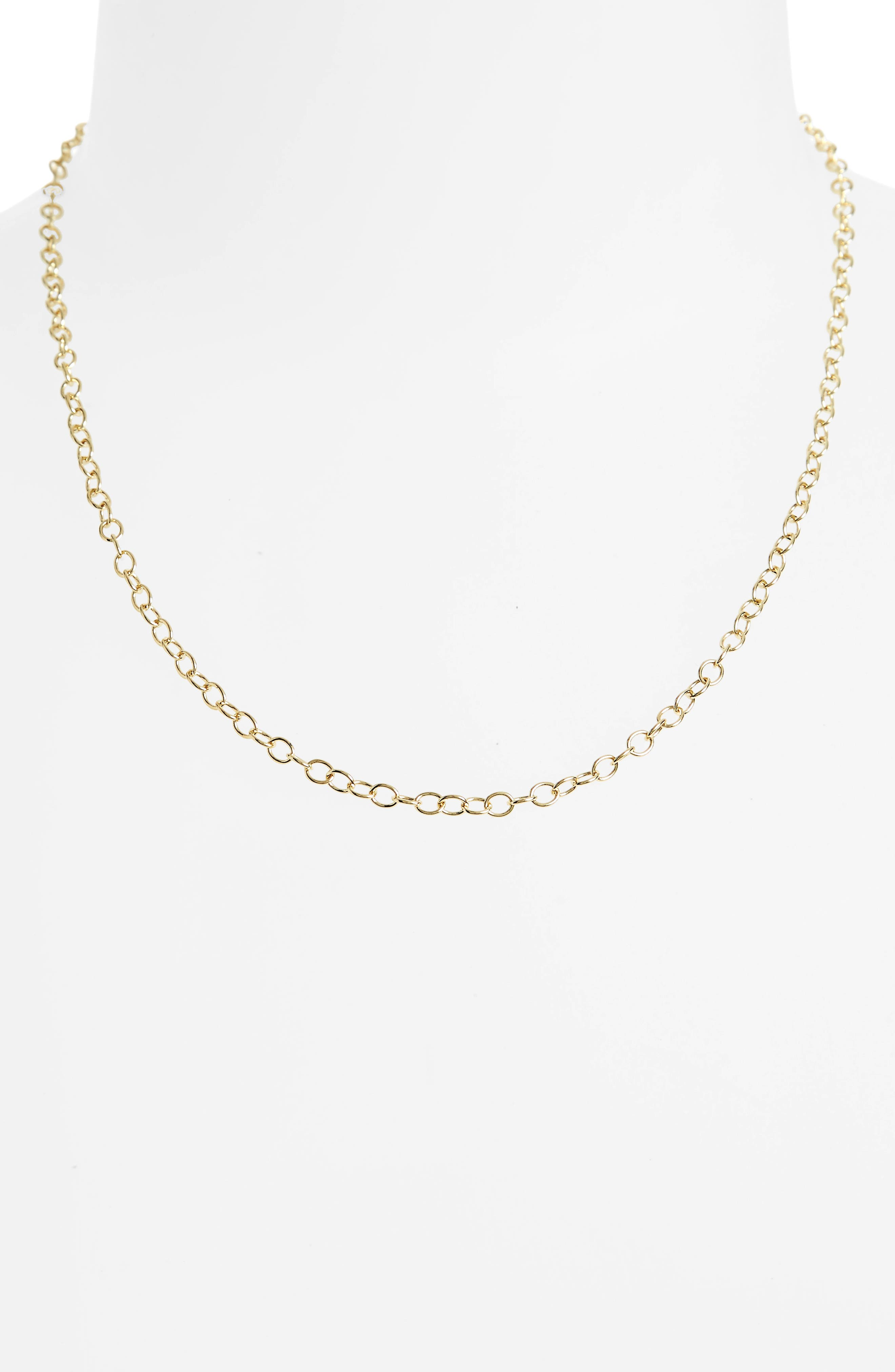 Alternate Image 2  - Temple St. Clair 18-Inch Oval Chain Necklace