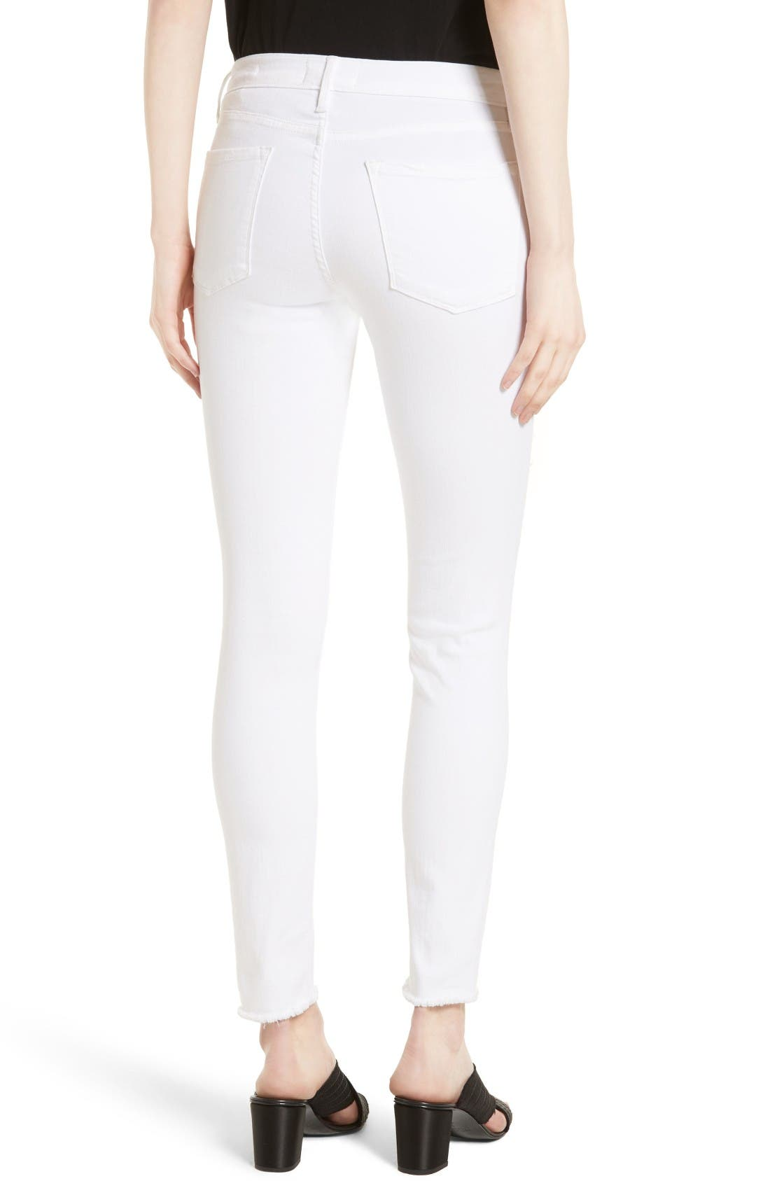 Alternate Image 2  - FRAME 'Le Skinny de Jeanne' Ripped Jeans (Noir Jefferson) (Nordstrom Exclusive)