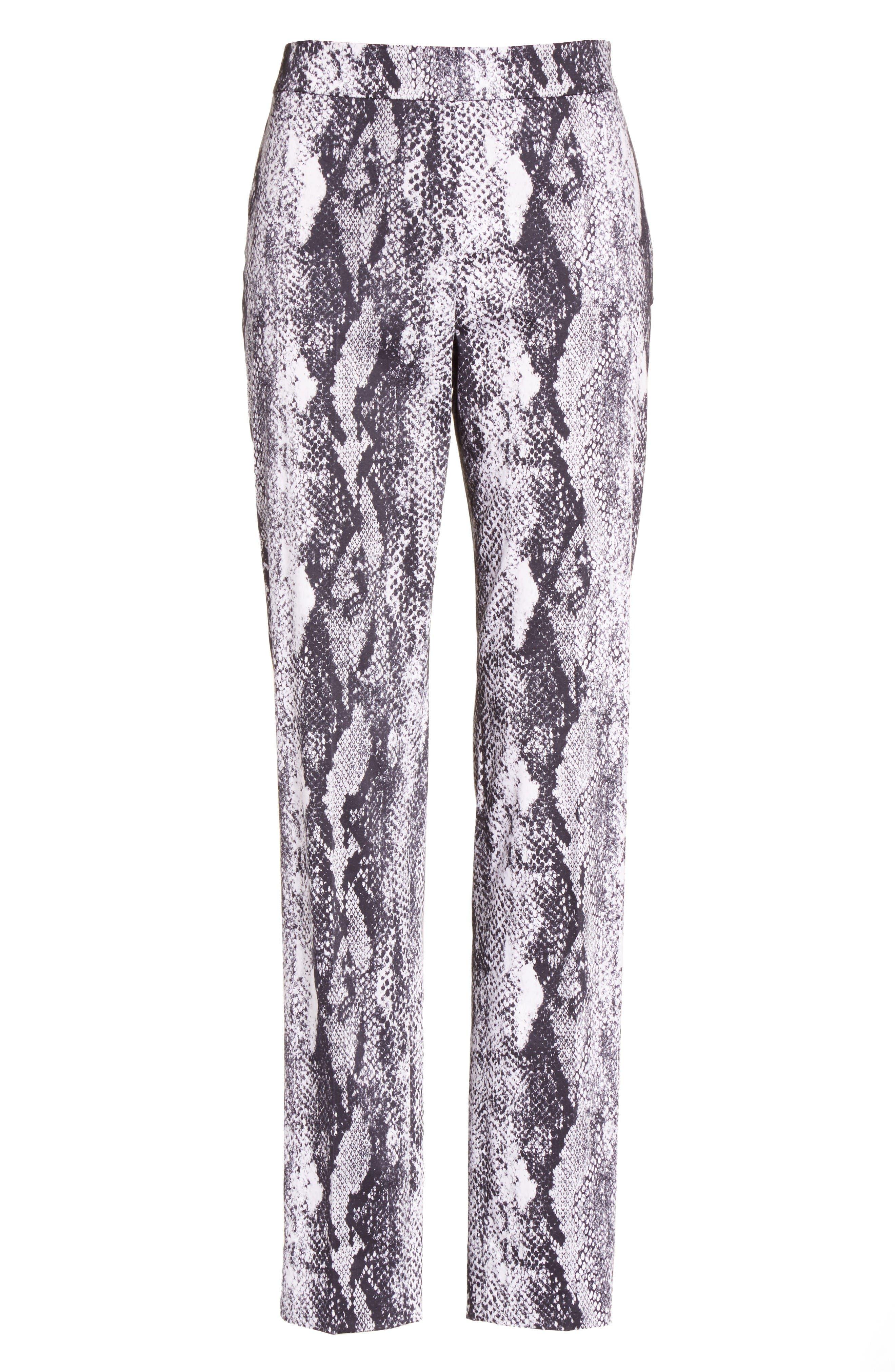 Alternate Image 6  - St. John Collection Emma Raja Snakeskin Print Pants