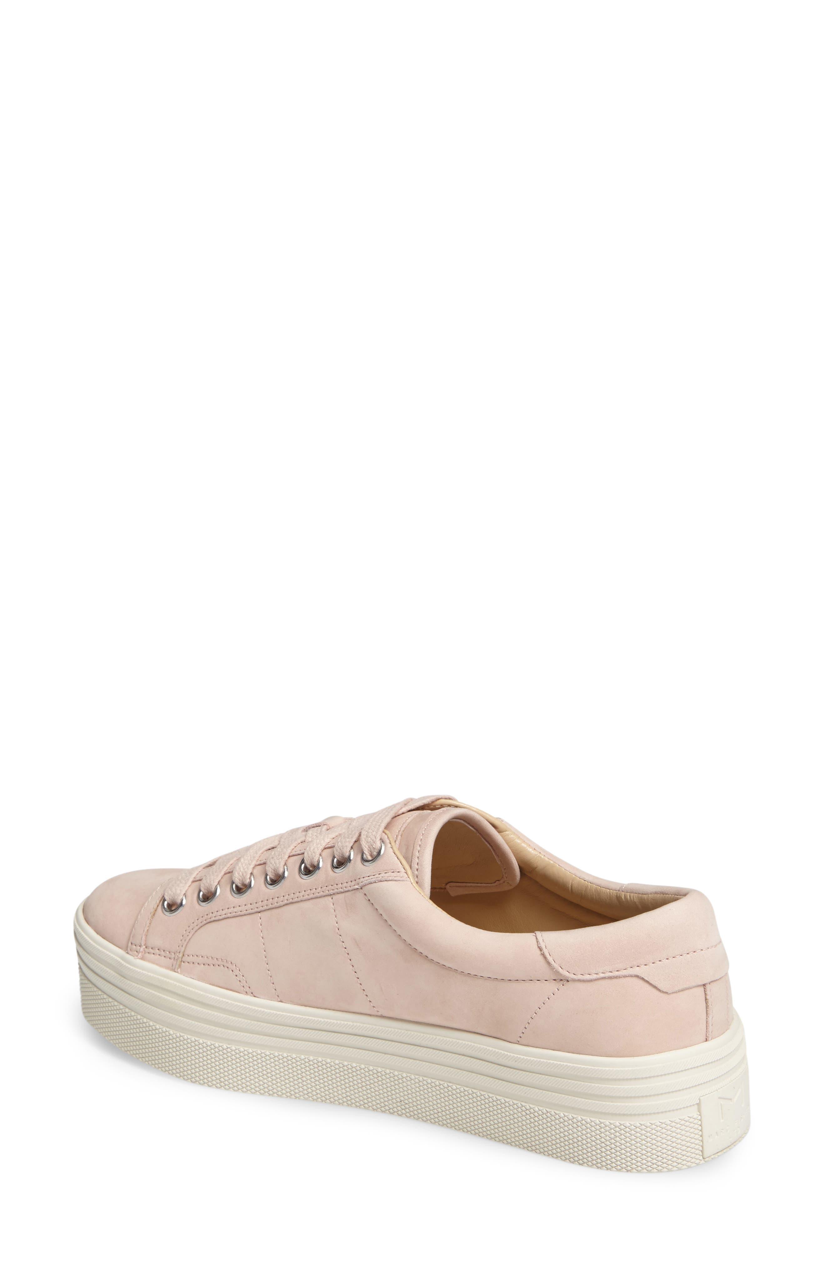 Emmy Platform Sneaker,                             Alternate thumbnail 2, color,                             Pink Nubuck Leather