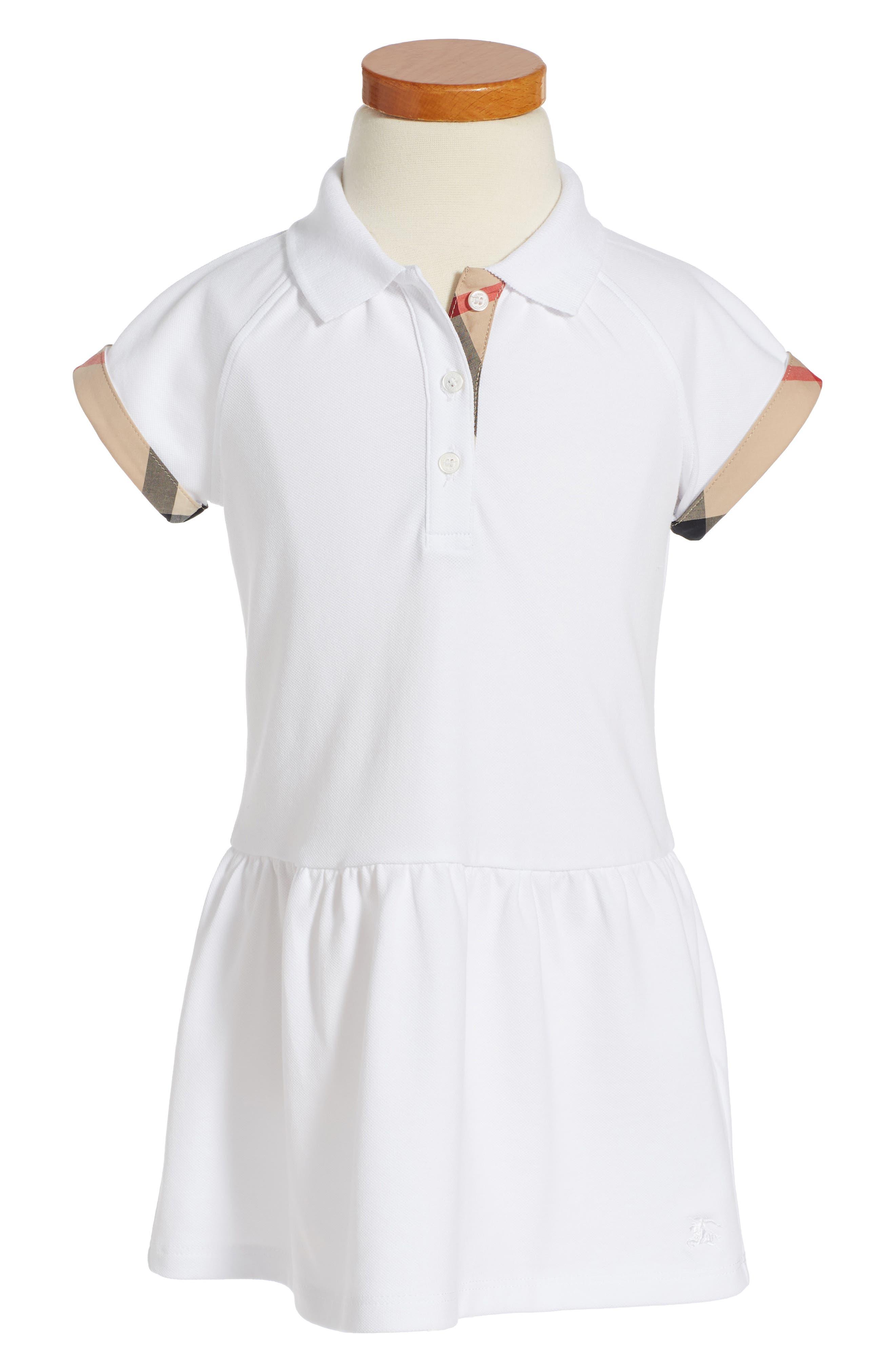 Main Image - Burberry Mini Cali Polo Dress (Toddler Girls)