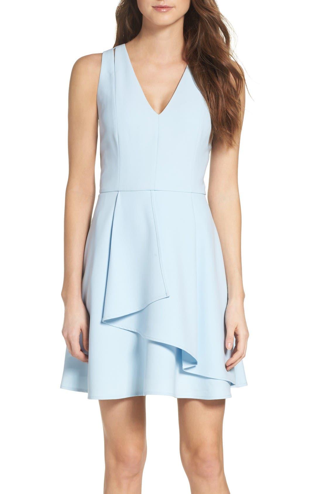 Asymmetrical Cream Dresses