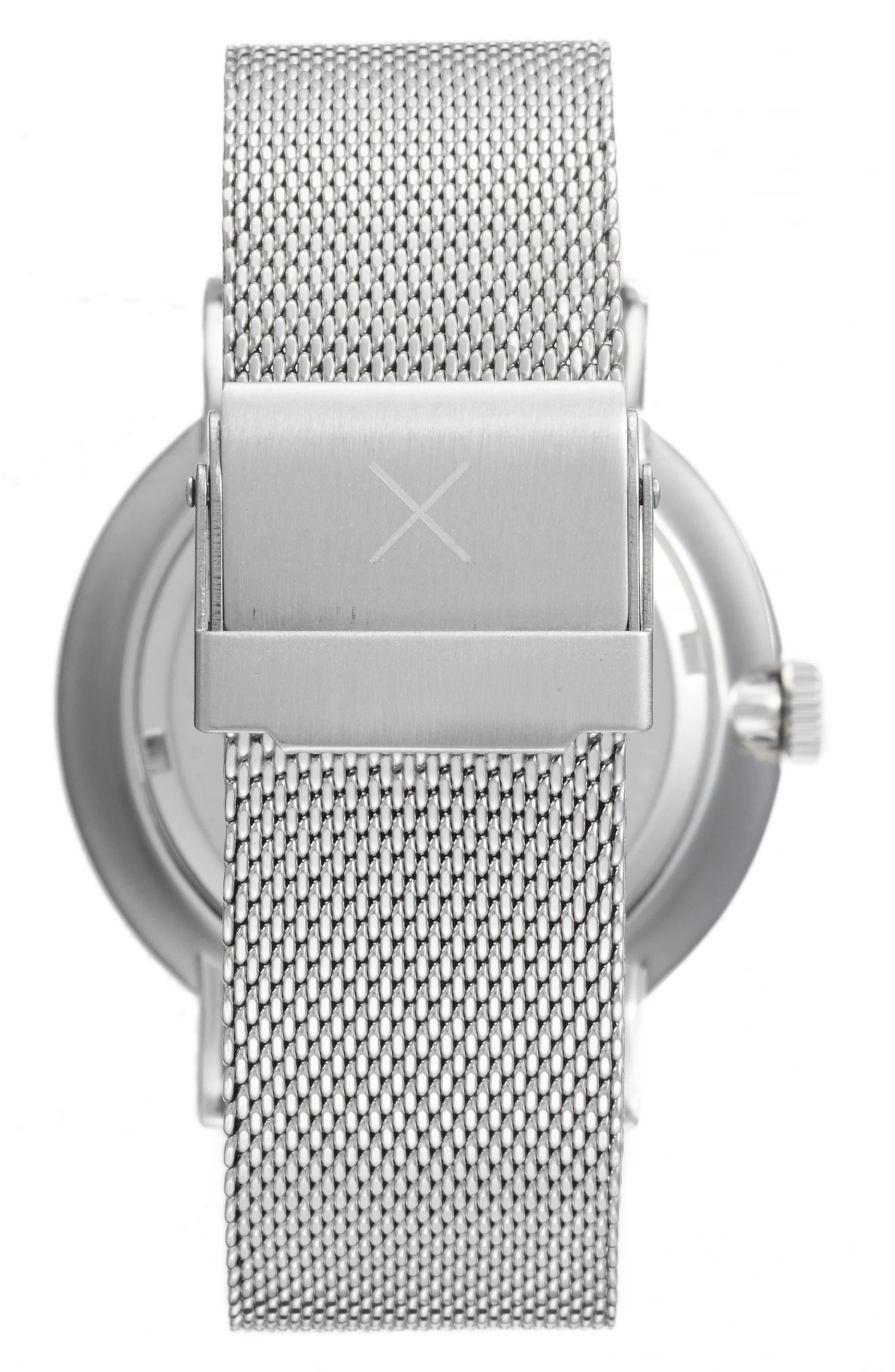 1.0 Mesh Strap Watch, 40mm,                             Alternate thumbnail 2, color,                             Silver/ Black