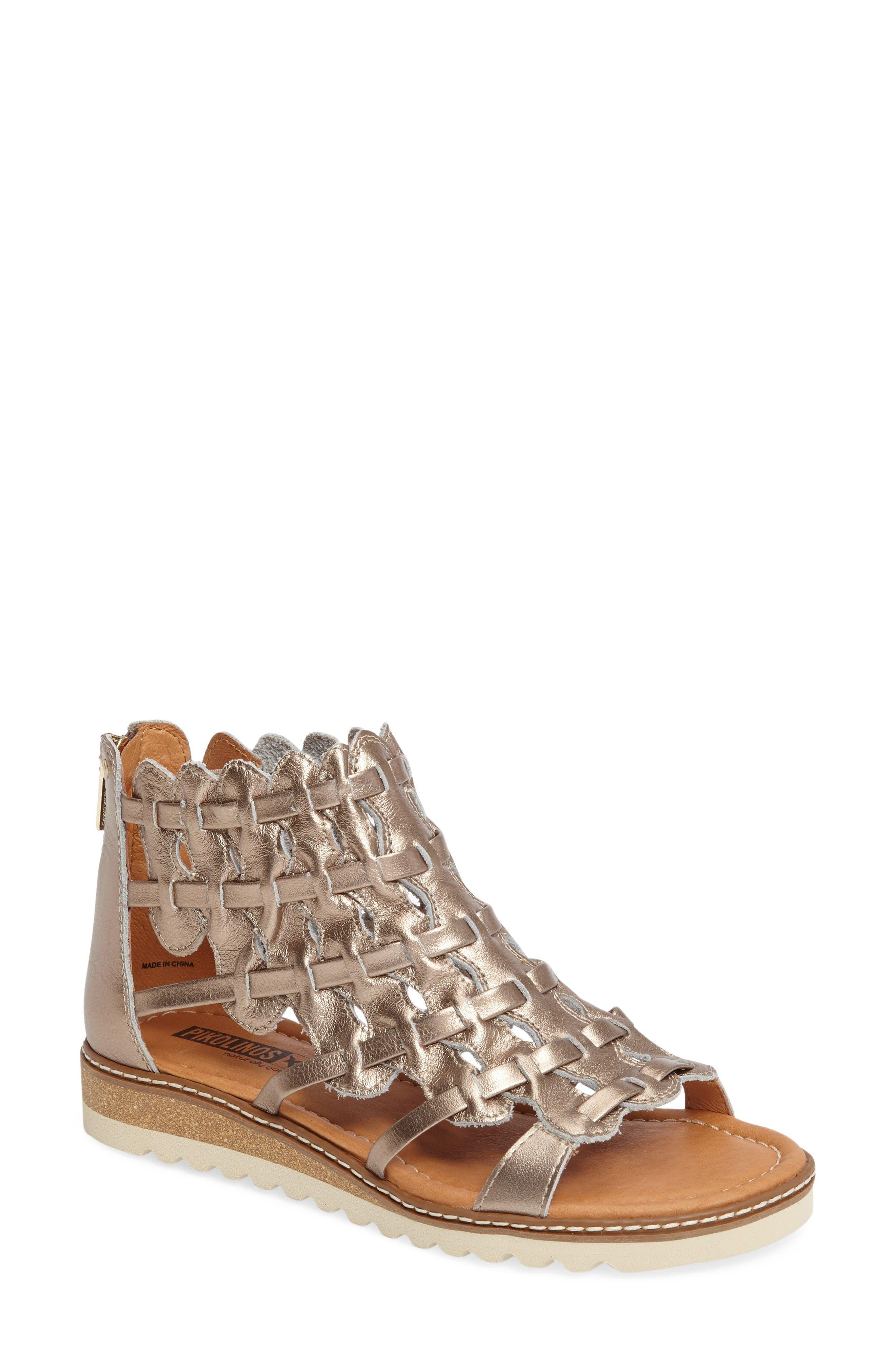 Alcudia Sandal,                         Main,                         color, Onyx Leather