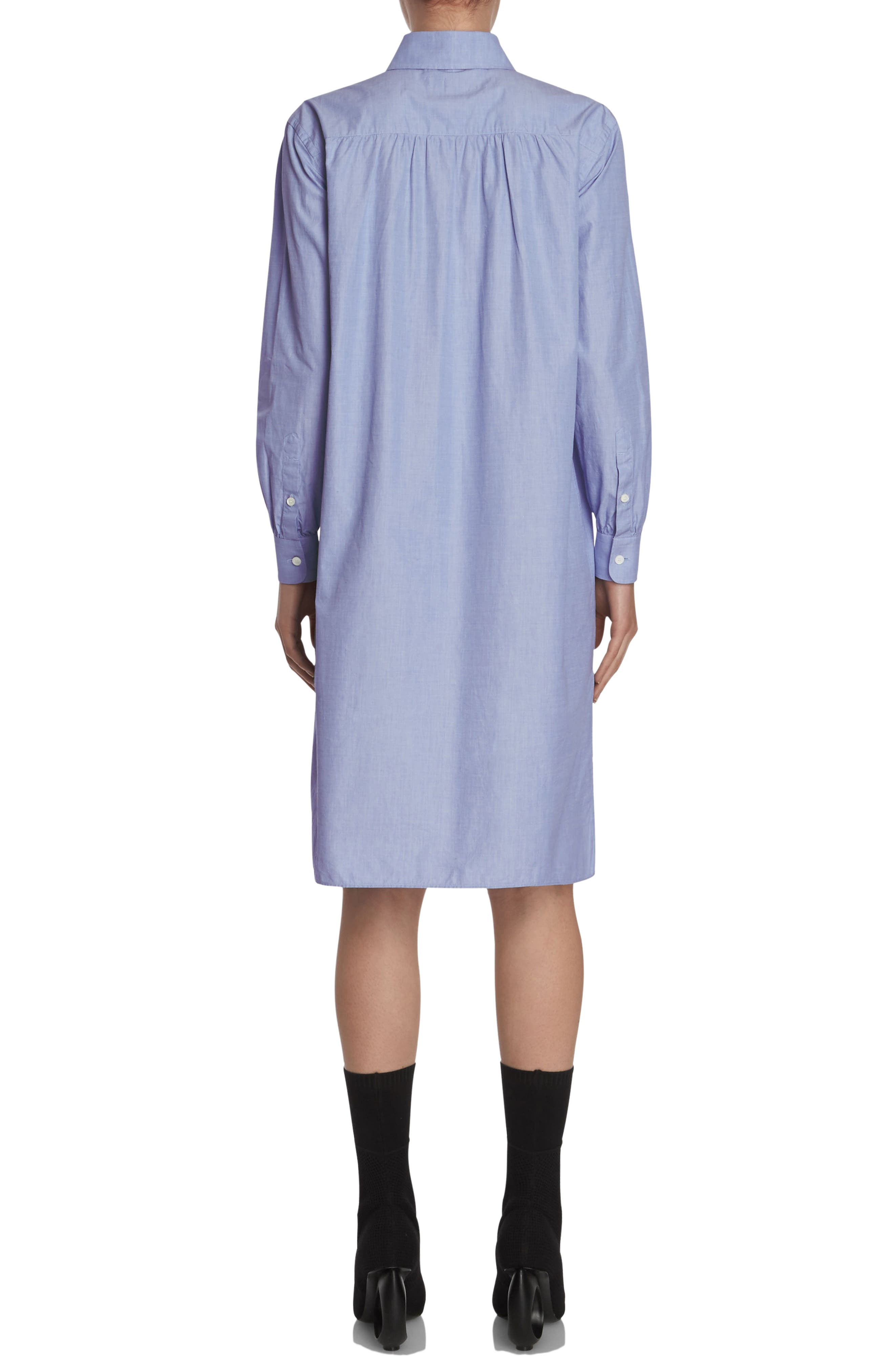 Alternate Image 2  - Burberry Pintuck Cotton Shirtdress