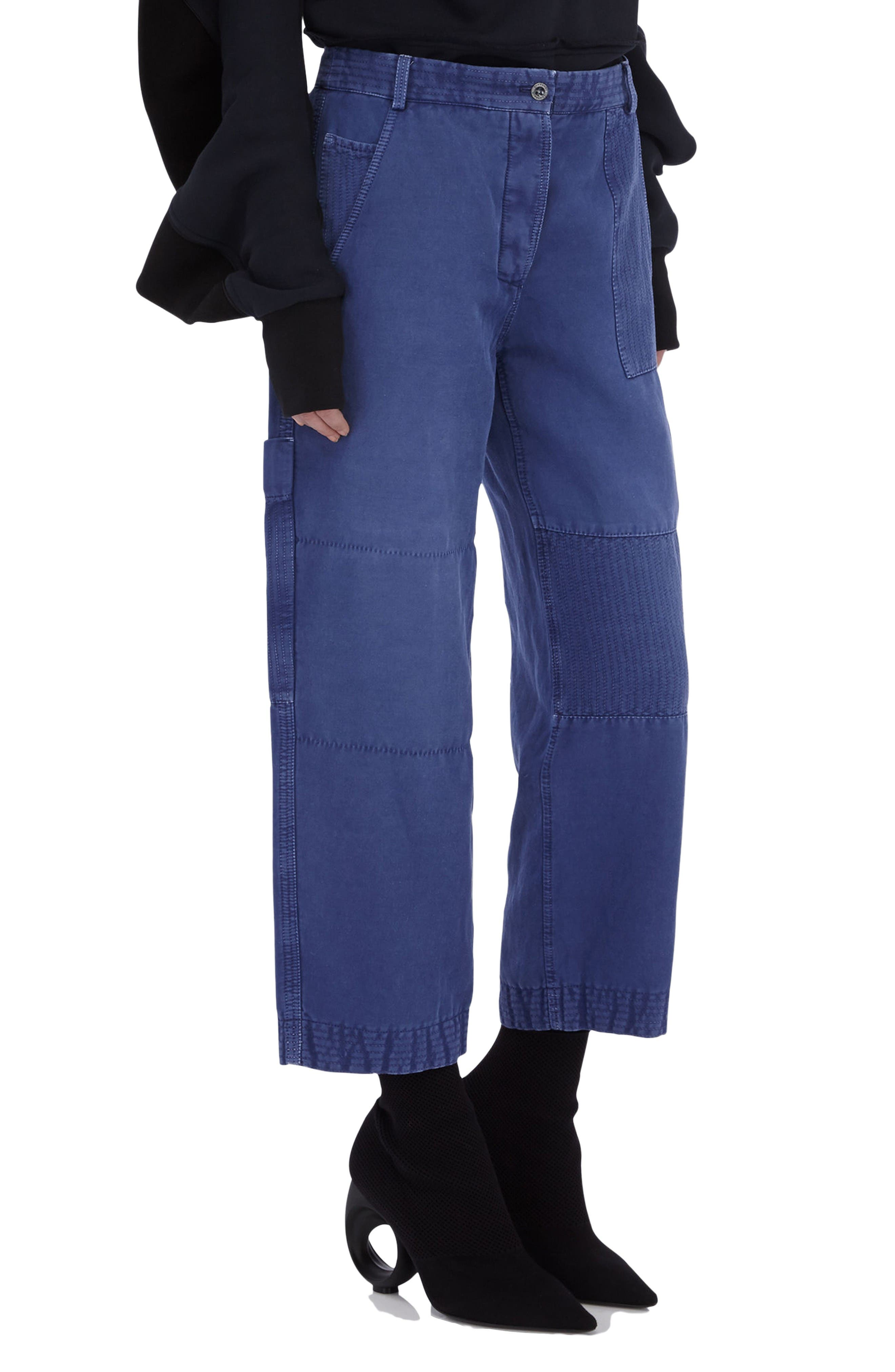 Alternate Image 3  - Burberry Crop Workwear Pants