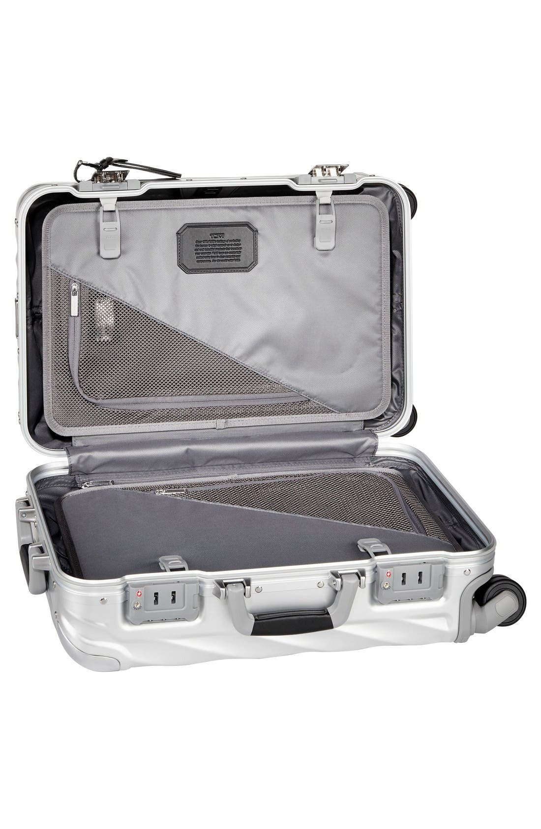 19 Degree Collection International Wheeled Aluminum Carry-On,                             Alternate thumbnail 2, color,                             Silver
