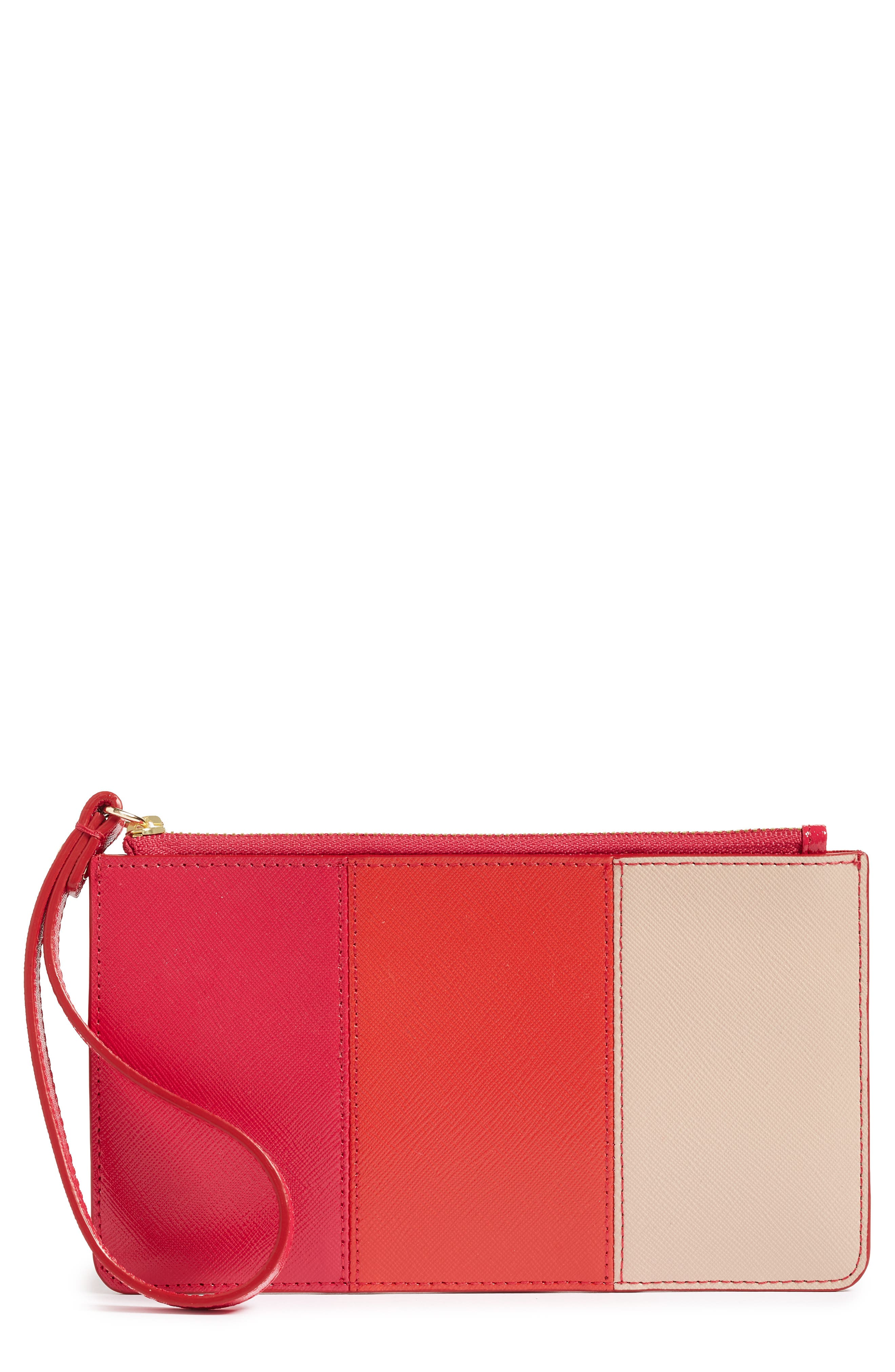 Halogen® Leather Wristlet with Pop-Out Card Case