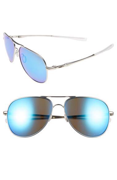 5396284d2e Oakley Elmont 60Mm Polarized Aviator Sunglasses In Silver
