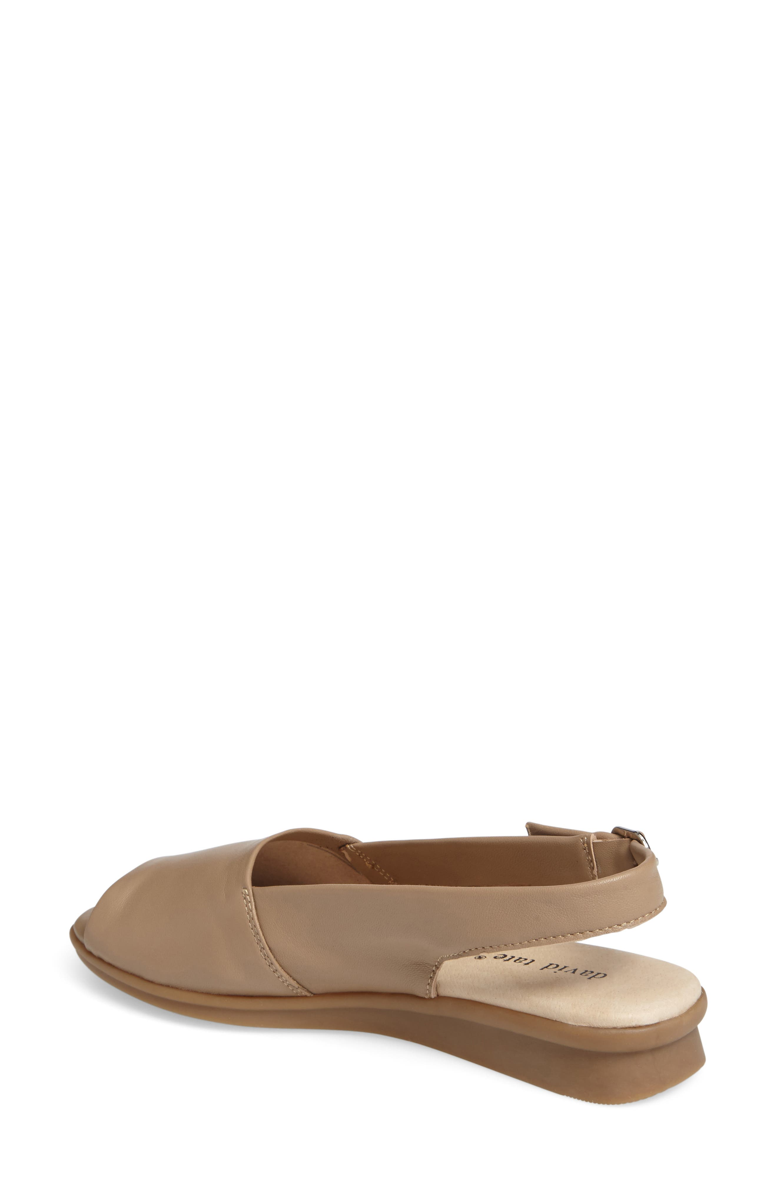 Norma Slingback Sandal,                             Alternate thumbnail 2, color,                             Camel Leather