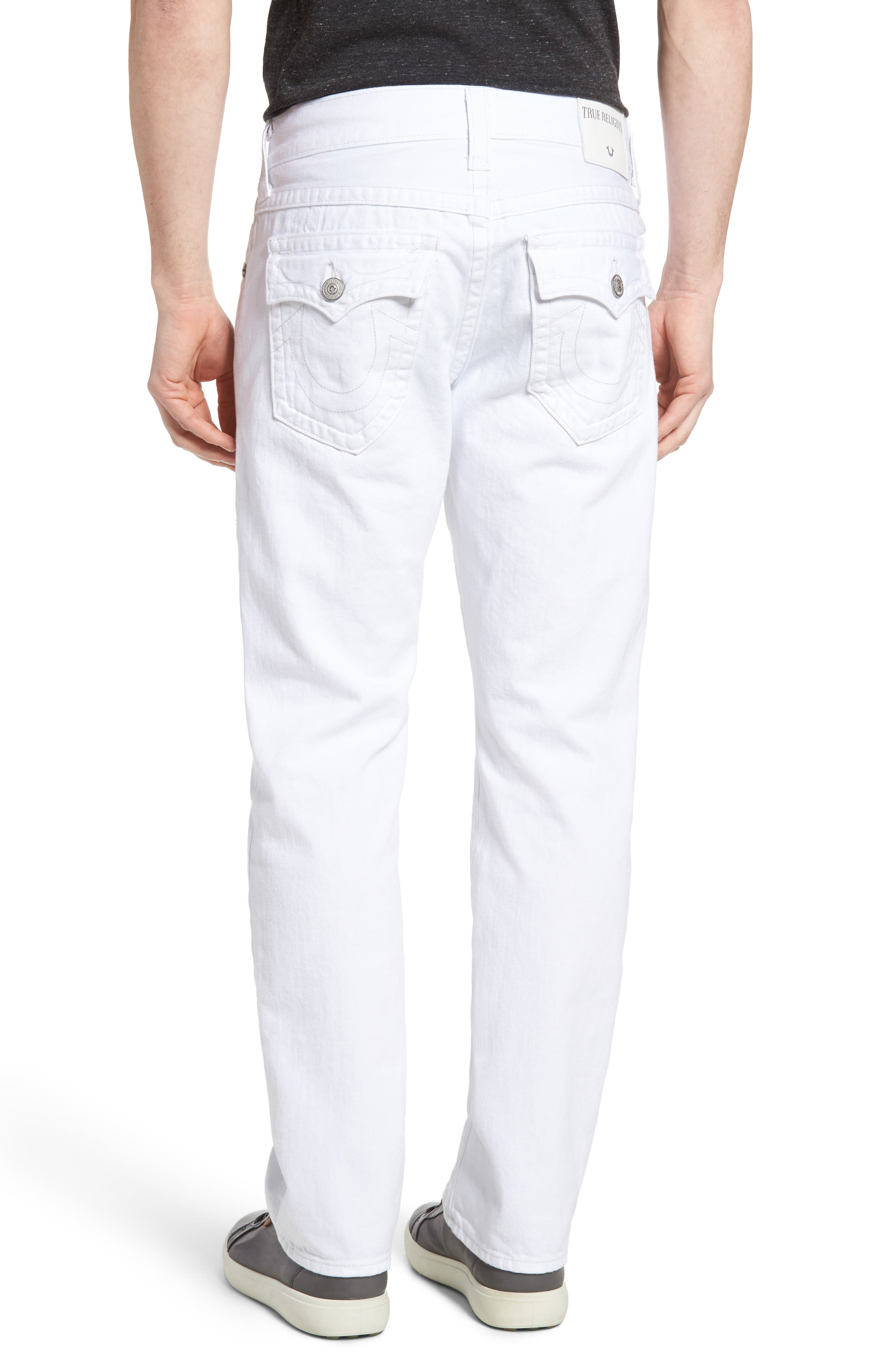 Alternate Image 2  - True Religion Brand Jeans Ricky Relaxed Fit Jeans (Optic White)