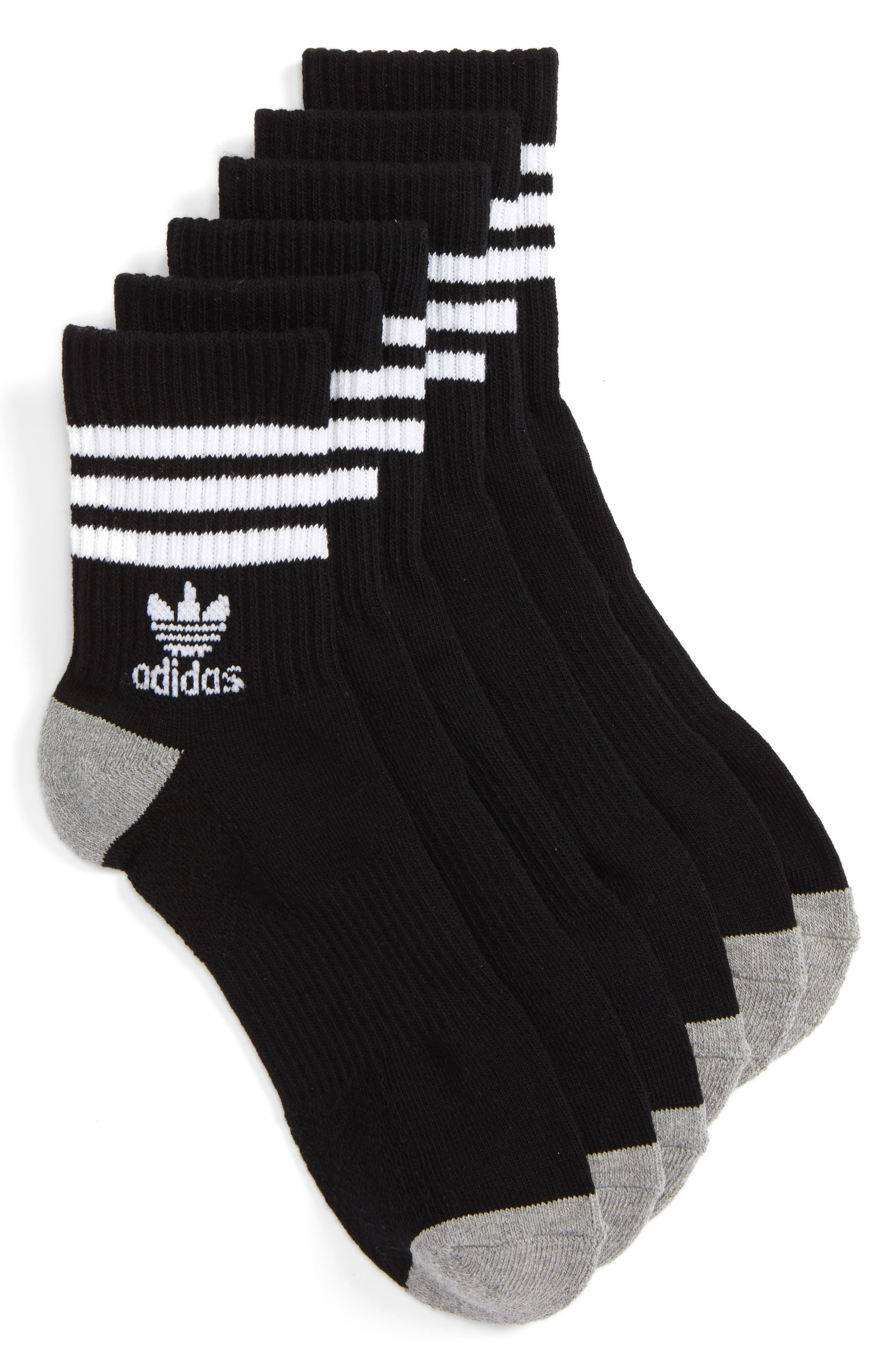 adidas 3-Pack Quarter Crew Socks