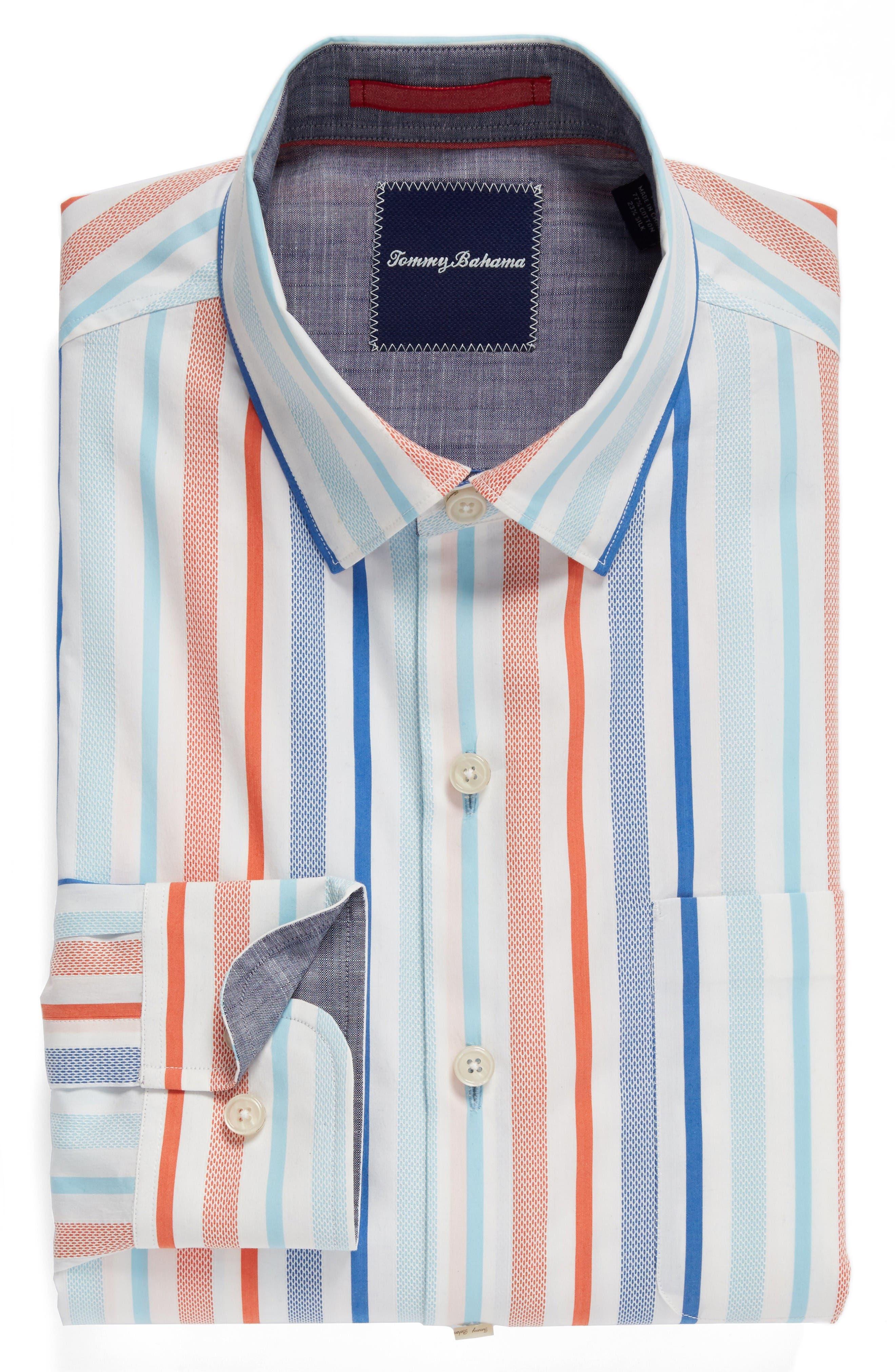 Alternate Image 6  - Tommy Bahama Demeter Stripe Sport Shirt