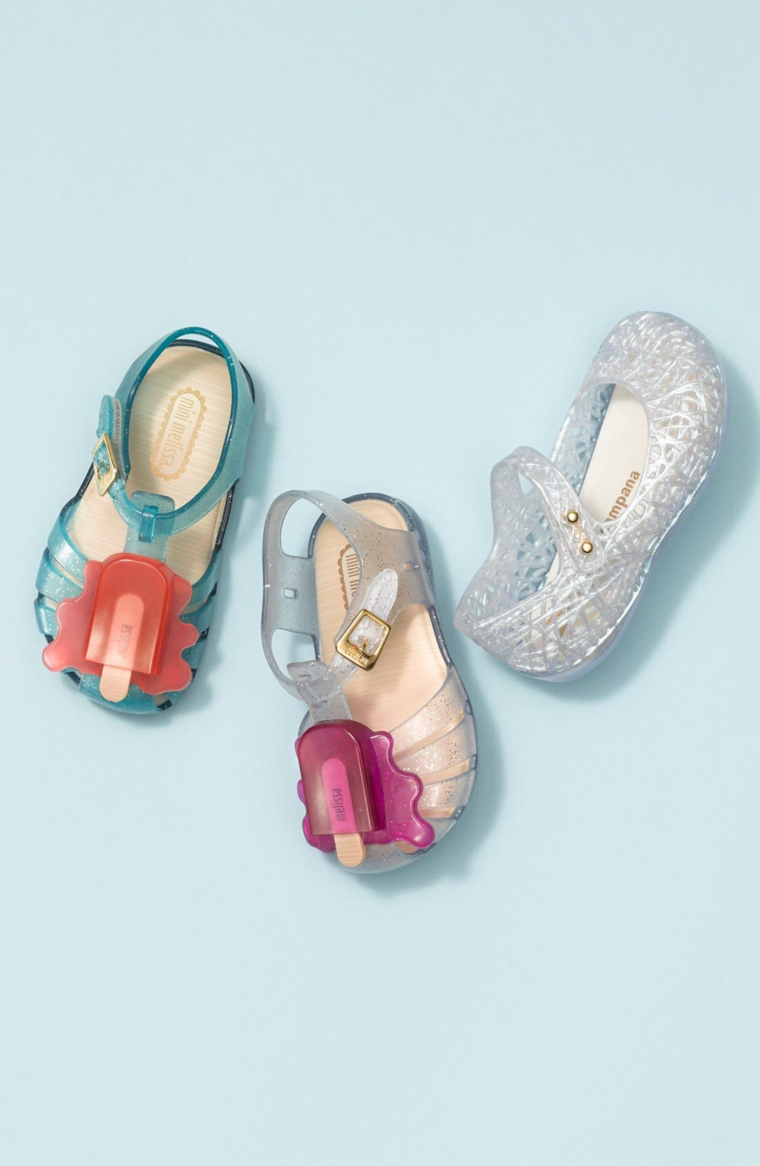 Alternate Image 5  - Mini Melissa 'Campana' Mary Jane Flat (Walker & Toddler)