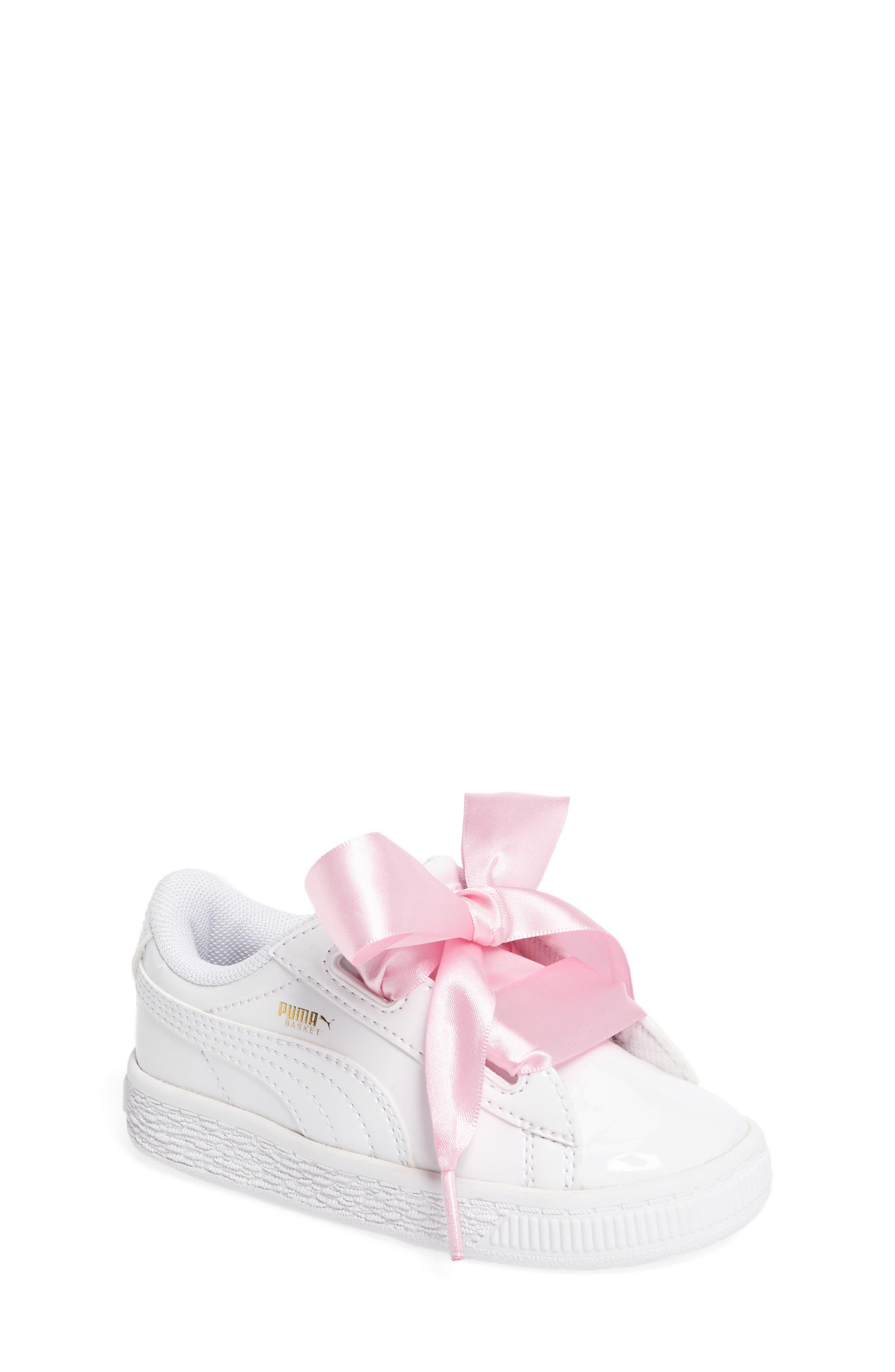 PUMA Basket Heart Sneaker (Walker & Toddler)