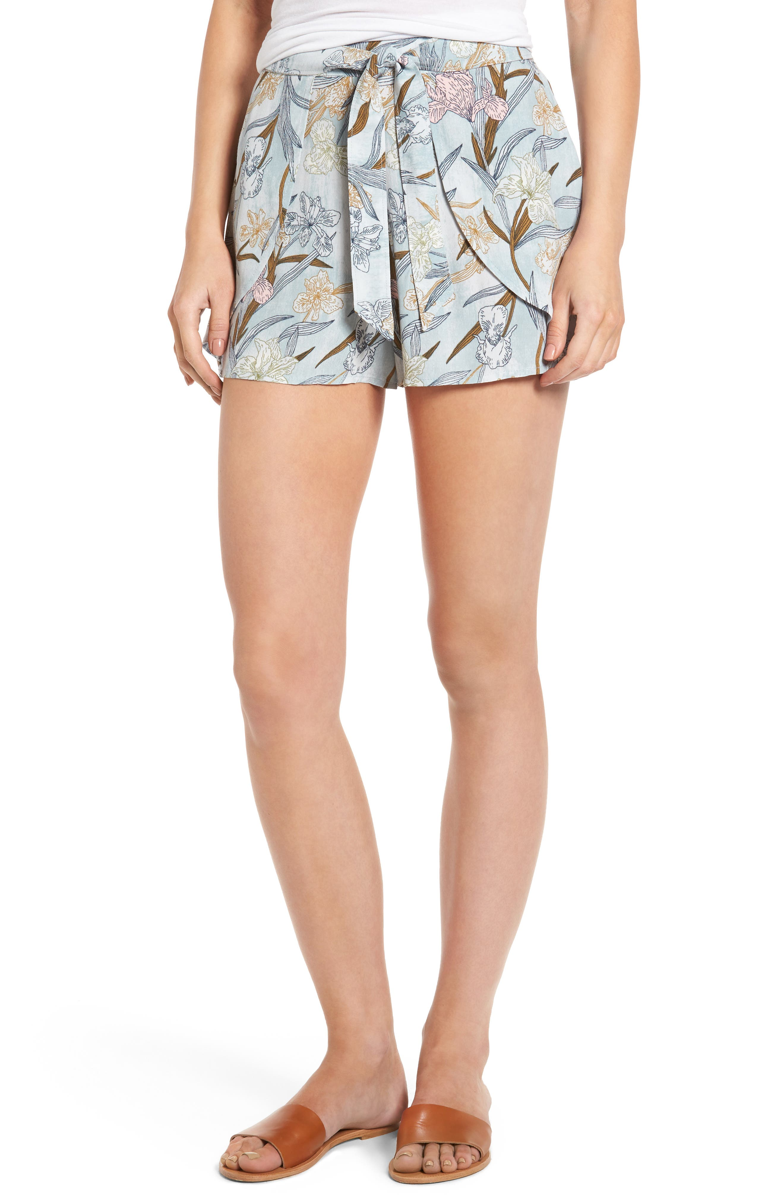 Alternate Image 1 Selected - BP. Tie Front Shorts