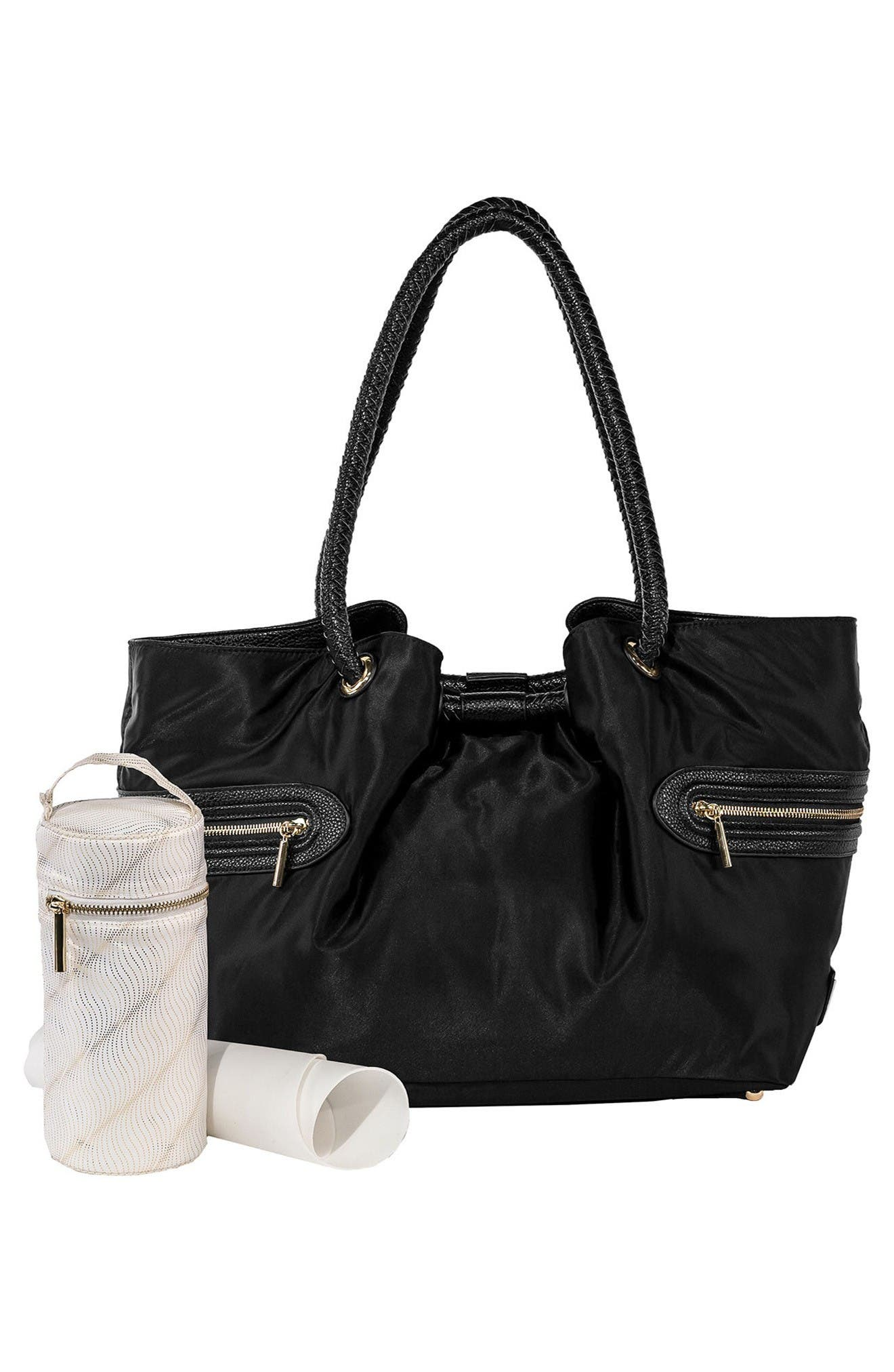 Addison Lane Diaper Bag,                             Alternate thumbnail 2, color,                             Black