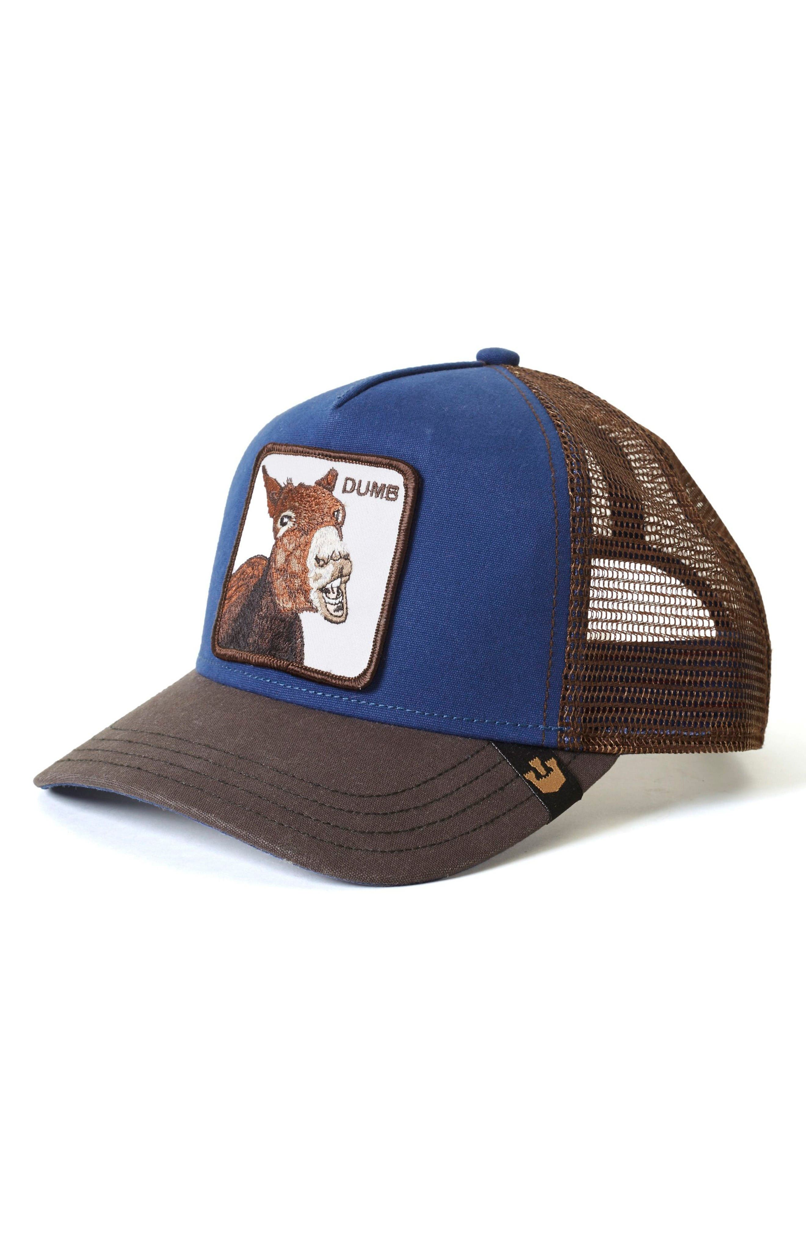 Donkey Trucker Hat,                         Main,                         color, Royal Blue