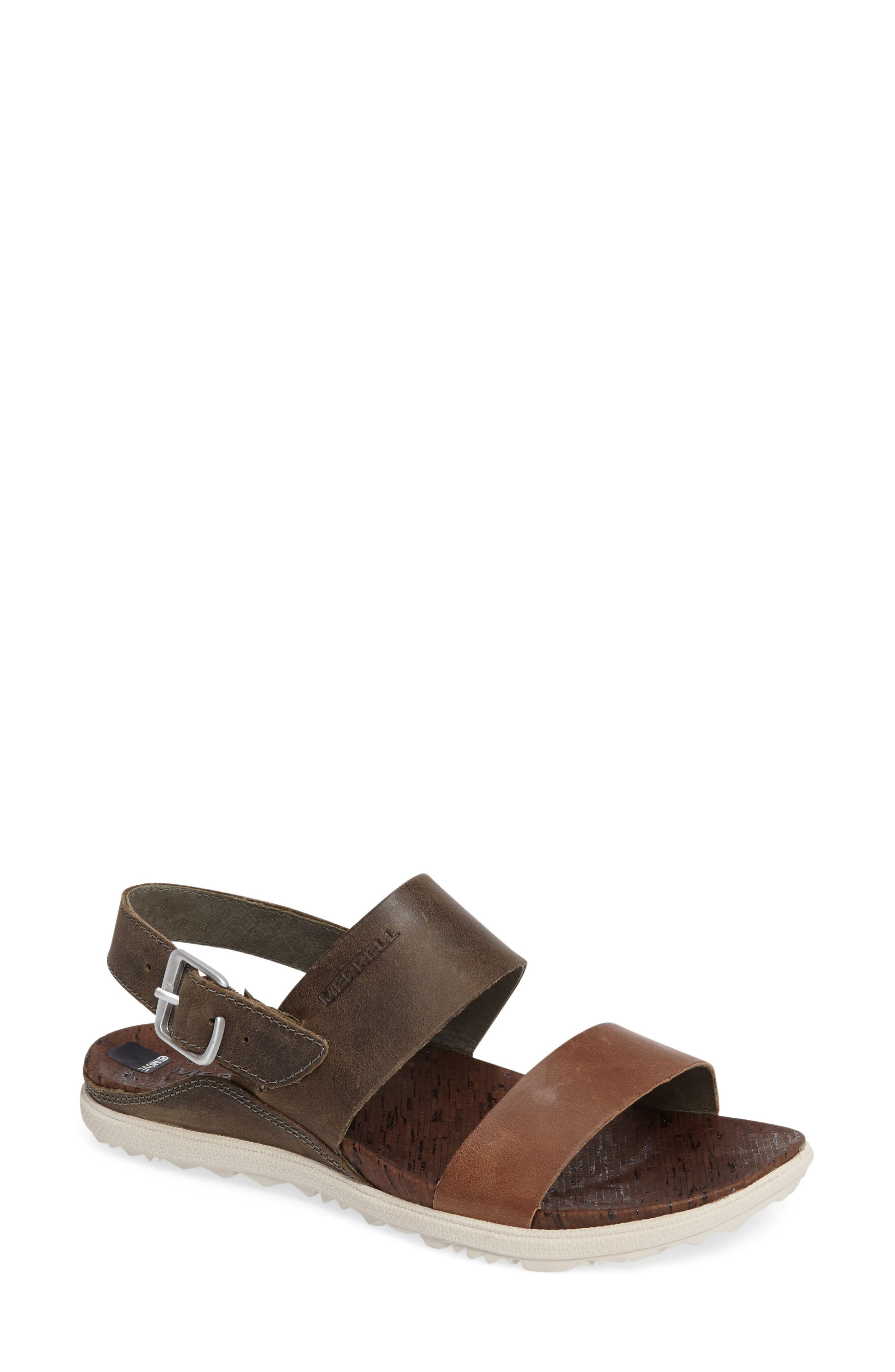 'Around Town' Slingback Sandal,                             Main thumbnail 1, color,                             Vertiver Leather