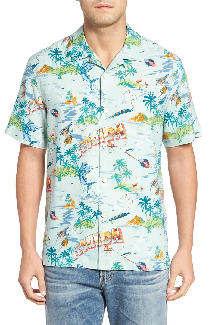 tommy bahama florida seas silk camp shirt big tall