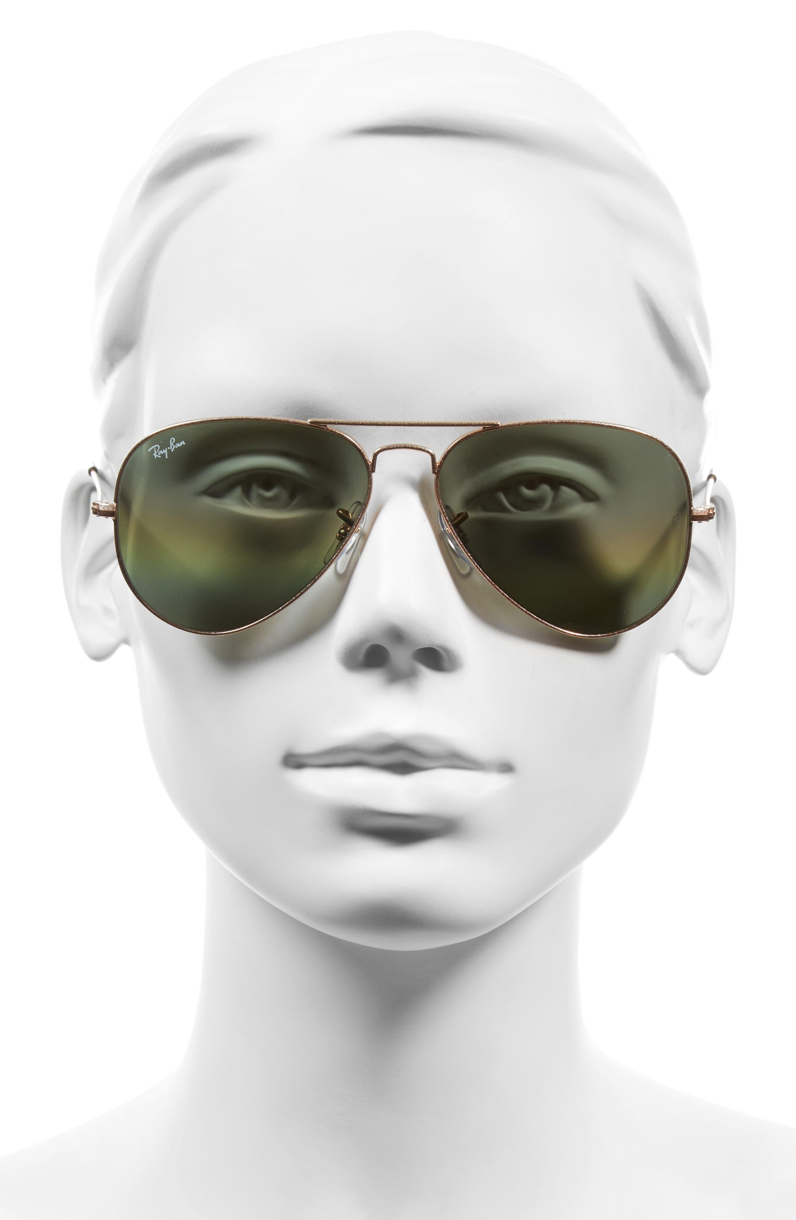 Standard Icons 58mm Mirrored Rainbow Aviator Sunglasses,                             Alternate thumbnail 2, color,                             Yellow Multi Rainbow