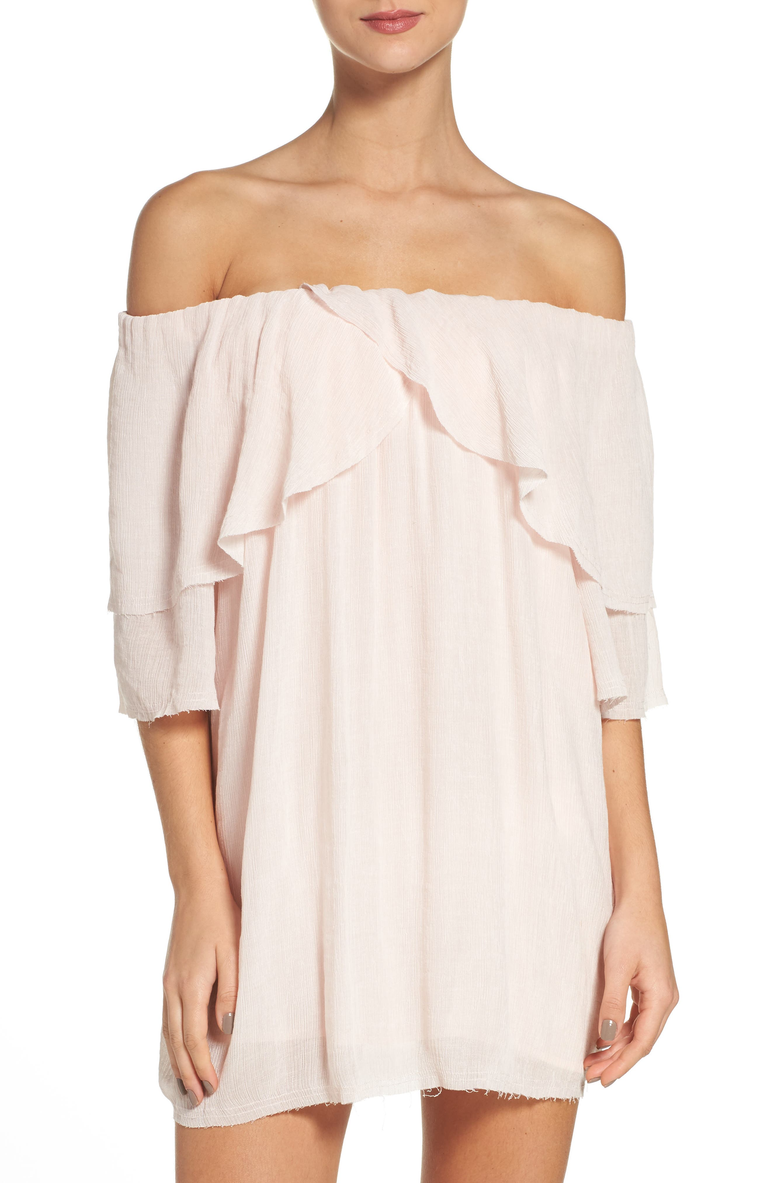 Suboo Perfect Day Off the Shoulder Cover-Up Dress
