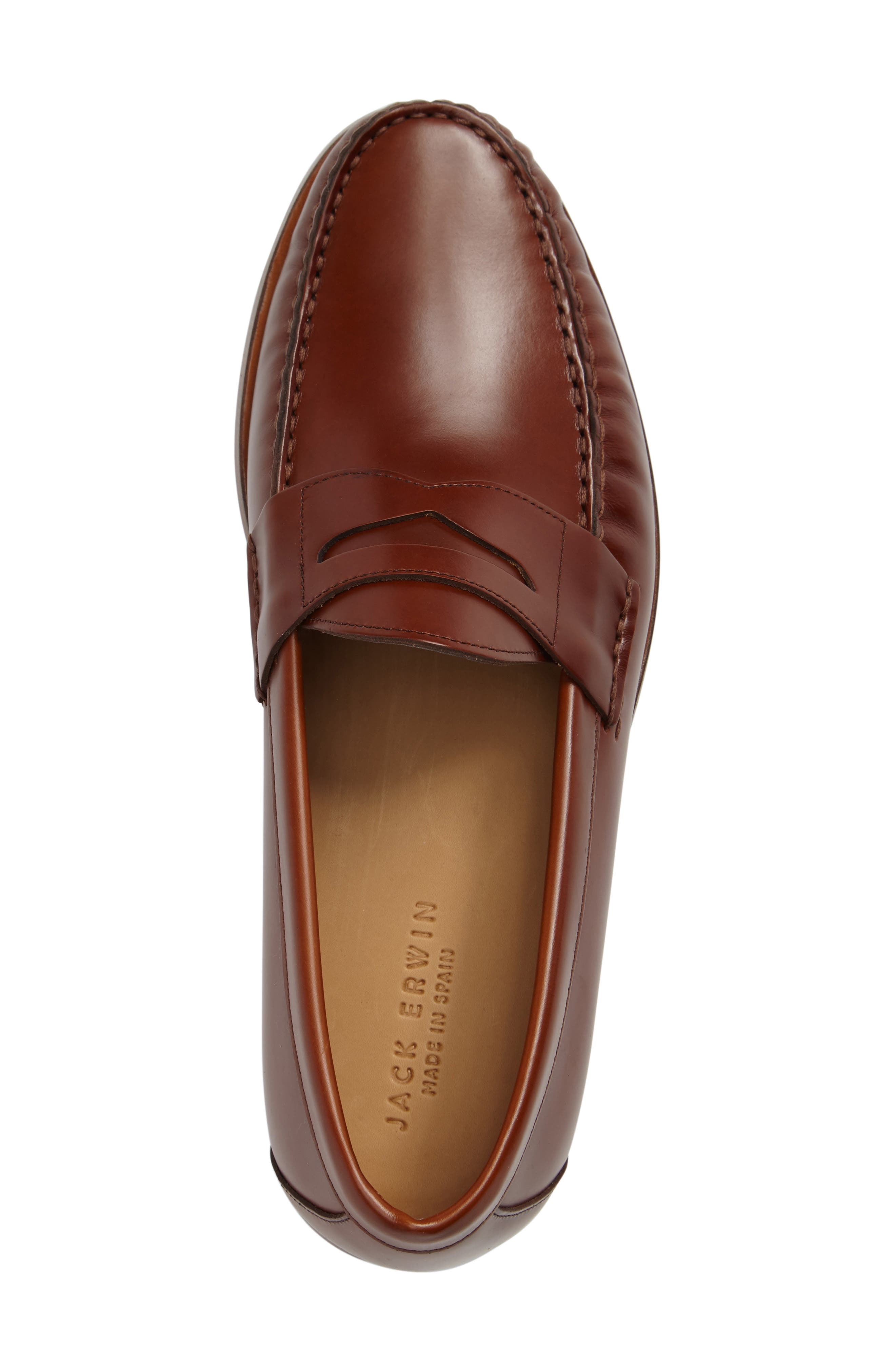 Charlie Penny Loafer,                             Alternate thumbnail 3, color,                             Cognac Leather