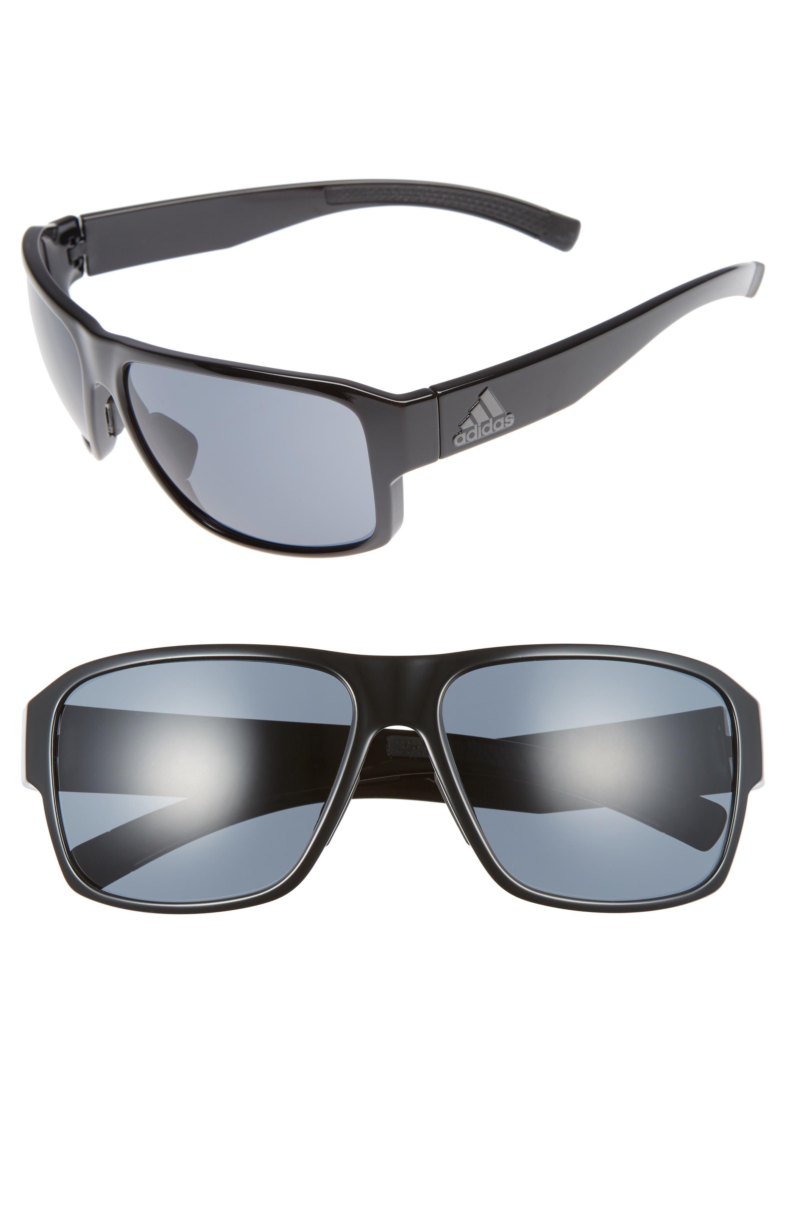 Jaysor 60mm Sunglasses,                         Main,                         color, Shiny Black/ Grey