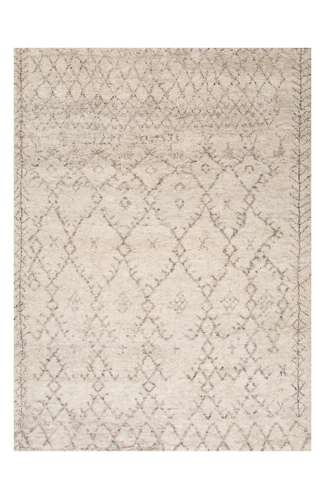 'Zola' Wool Area Rug,                             Main thumbnail 1, color,                             Ivory/ Grey