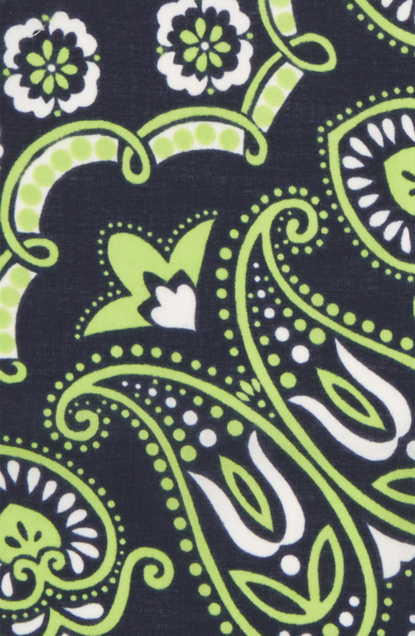 Neon Paisley Cotton Pocket Square,                             Alternate thumbnail 3, color,                             Blue/ Lime Green