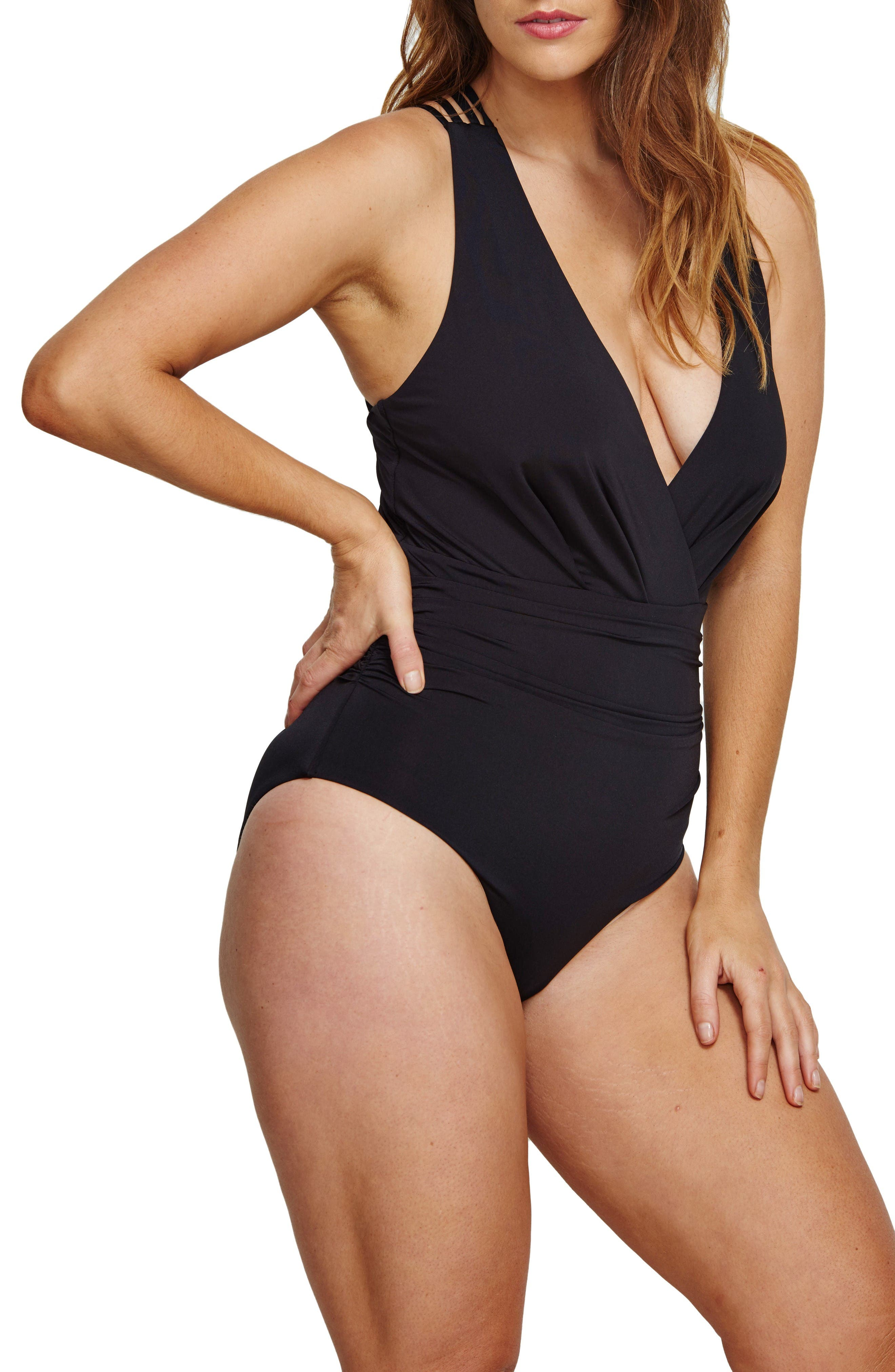 Alternate Image 3  - ROBYN LAWLEY Ocean Plunge One-Piece Swimsuit (Plus Size)