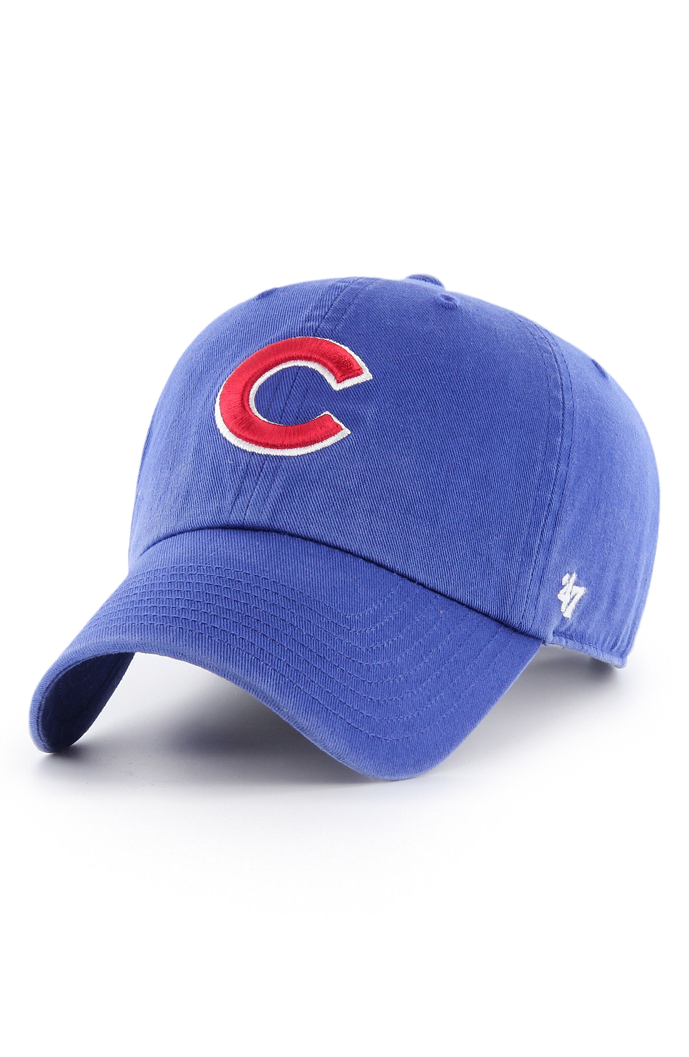 Clean Up - Chicago Cubs Baseball Cap,                         Main,                         color, Blue