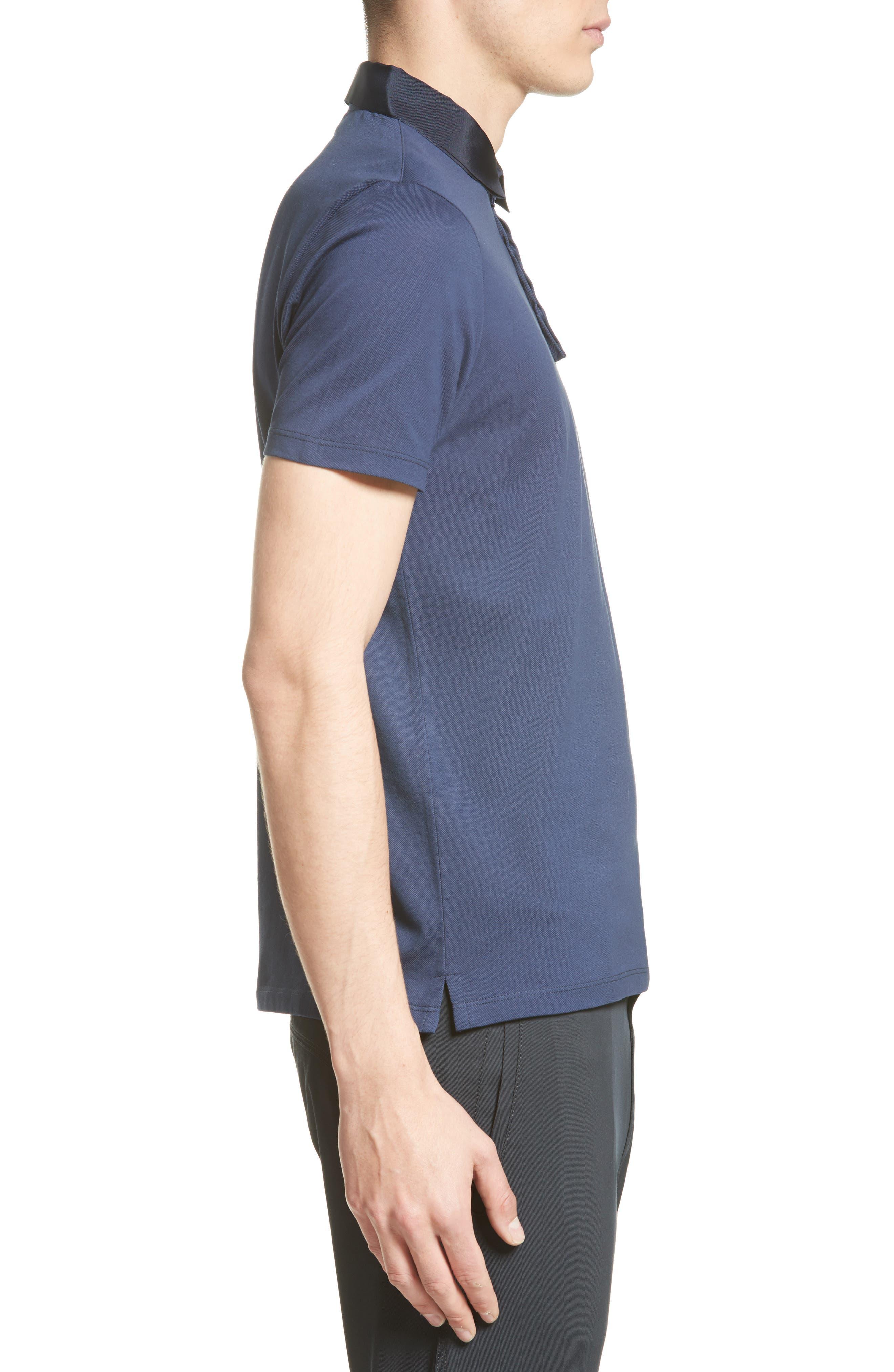 Alternate Image 3  - Lanvin Grosgrain Collar Polo