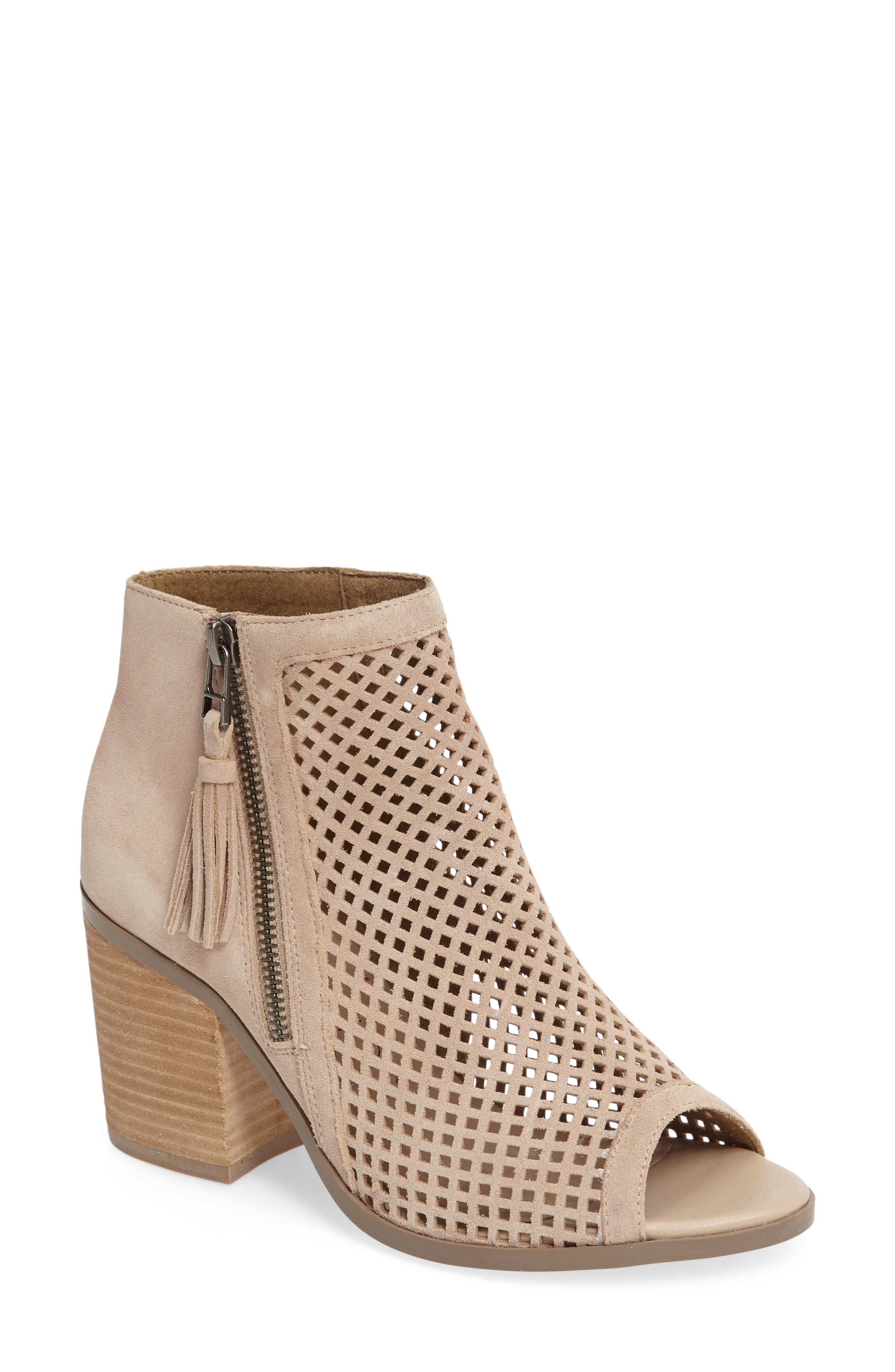 Alternate Image 1 Selected - Sole Society Dallas Peforated Peep Toe Bootie (Women)