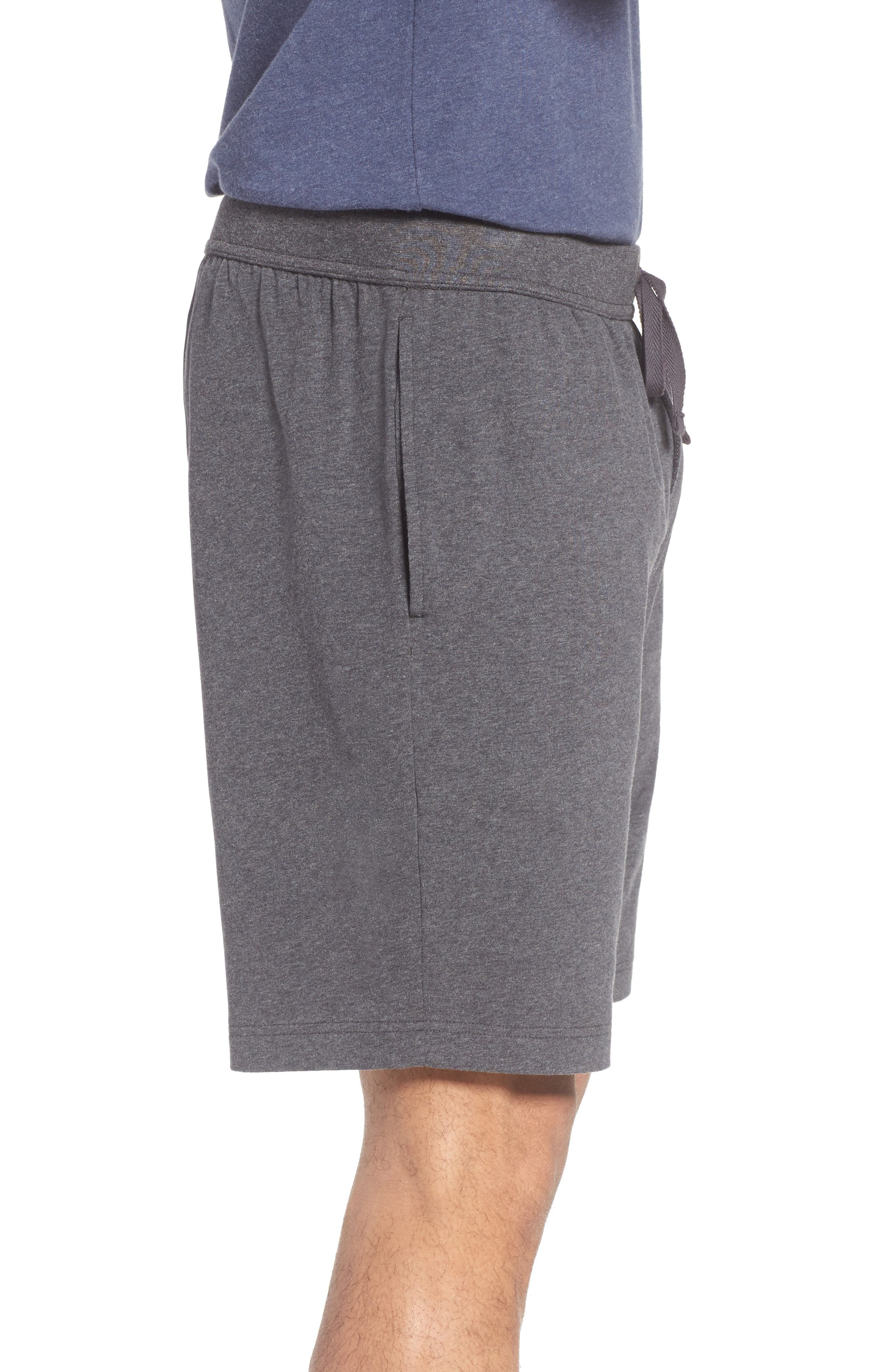 Stretch Cotton Lounge Shorts,                             Alternate thumbnail 3, color,                             Grey Charcoal