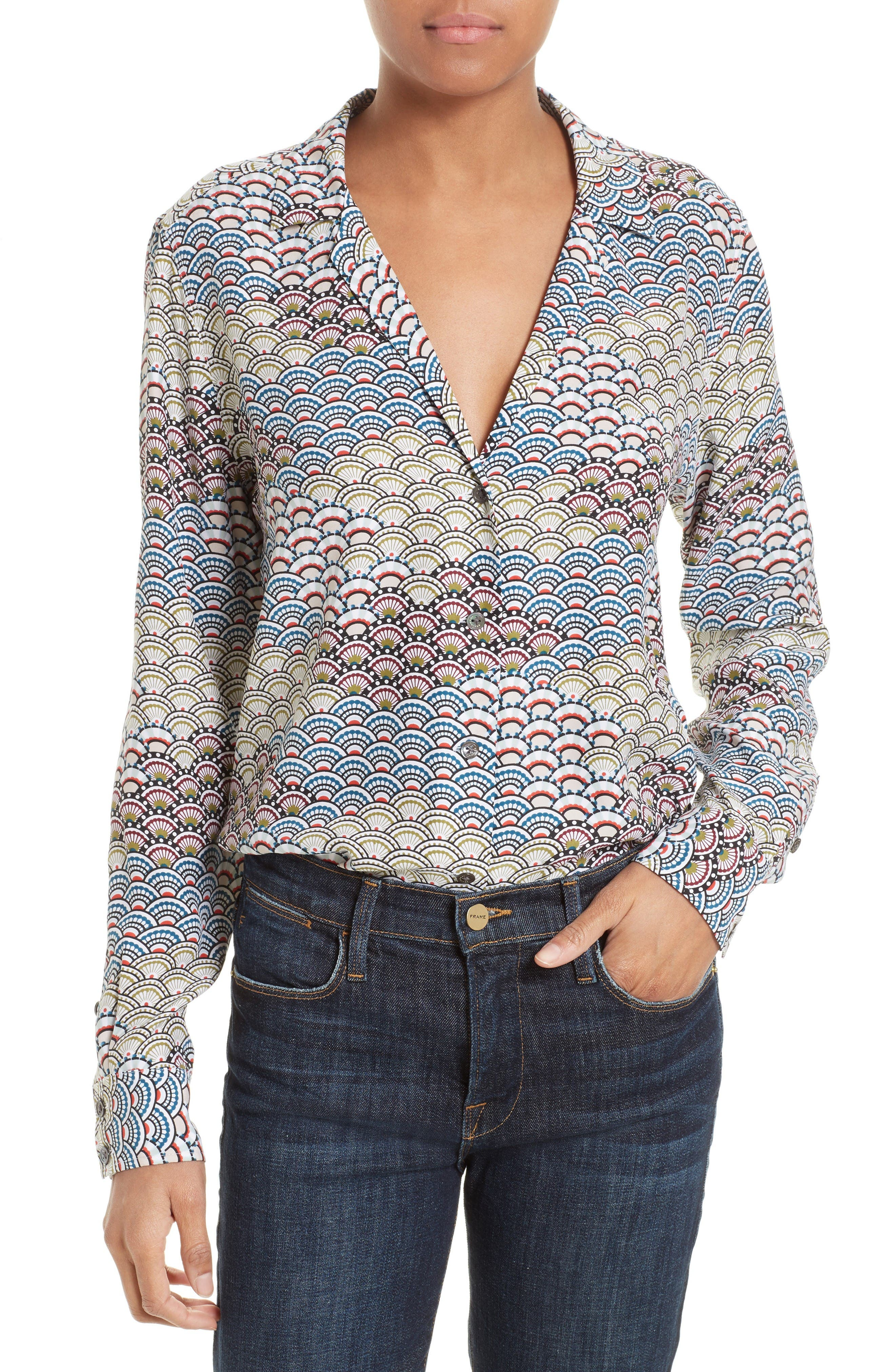 Equipment Adalyn Print Silk Blouse
