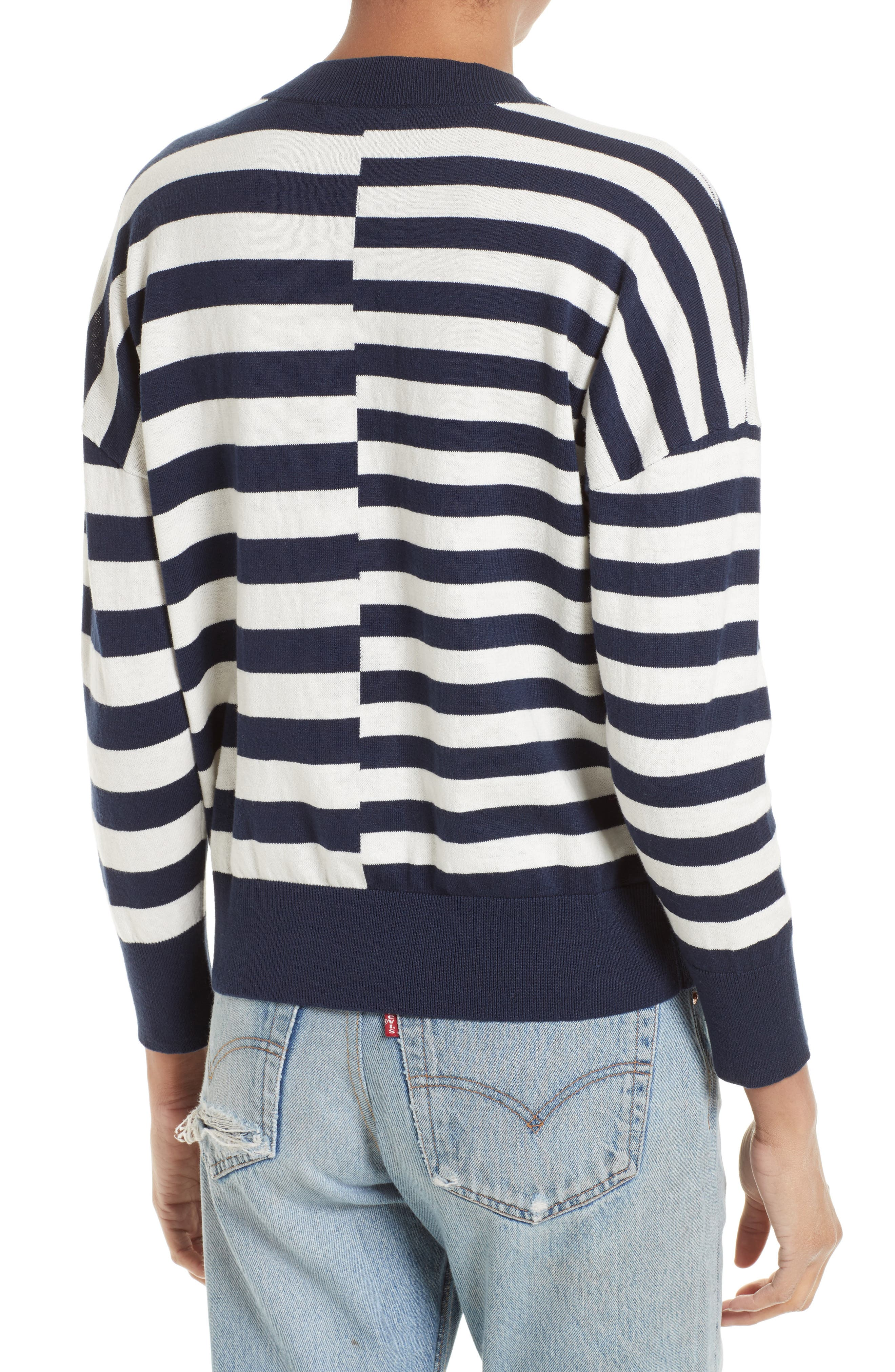 Alternate Image 2  - Equipment Melanie Stripe Cotton & Silk Sweater