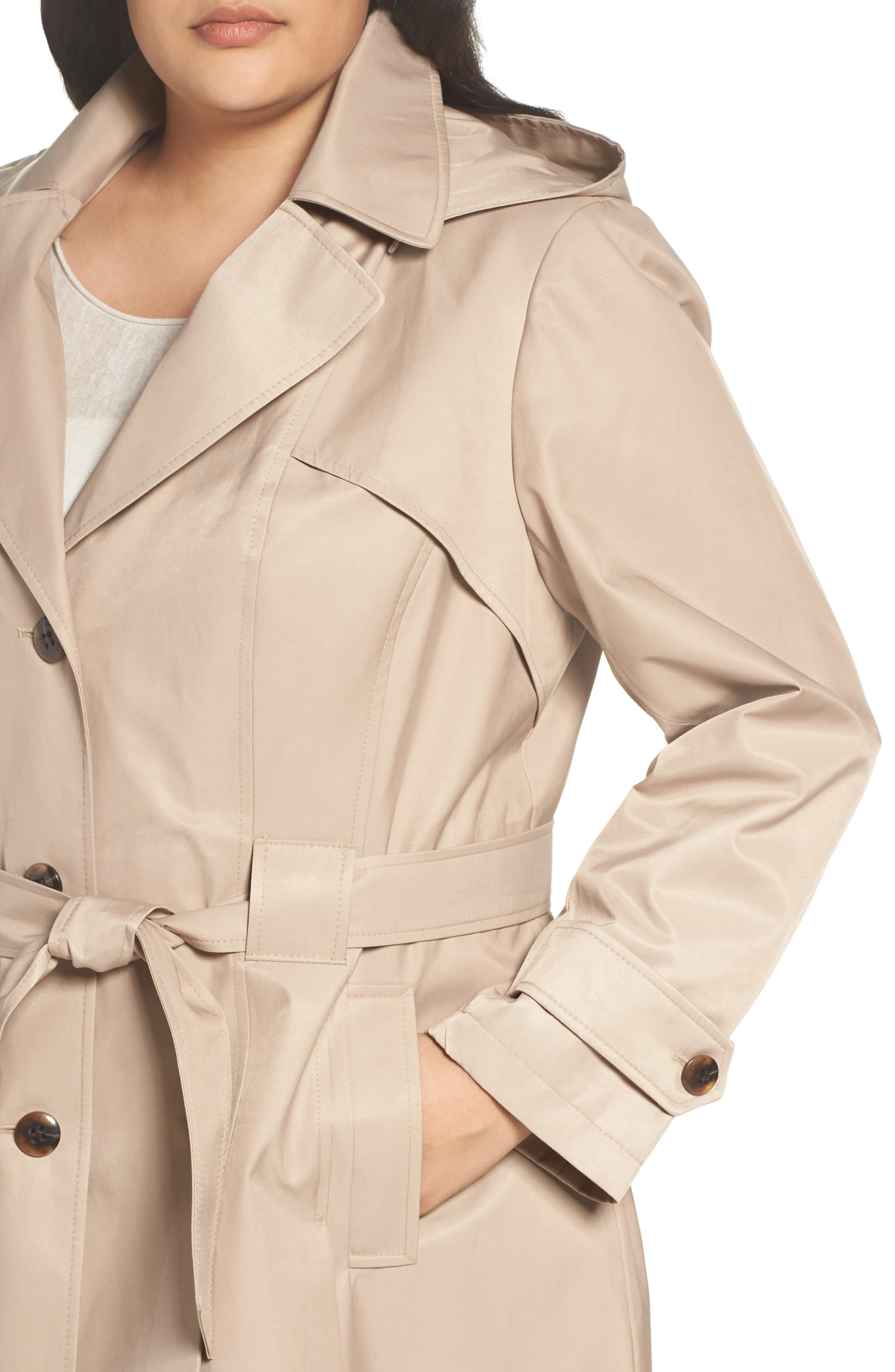 'Scarpa' Single Breasted Trench Coat,                             Alternate thumbnail 4, color,                             New Sand