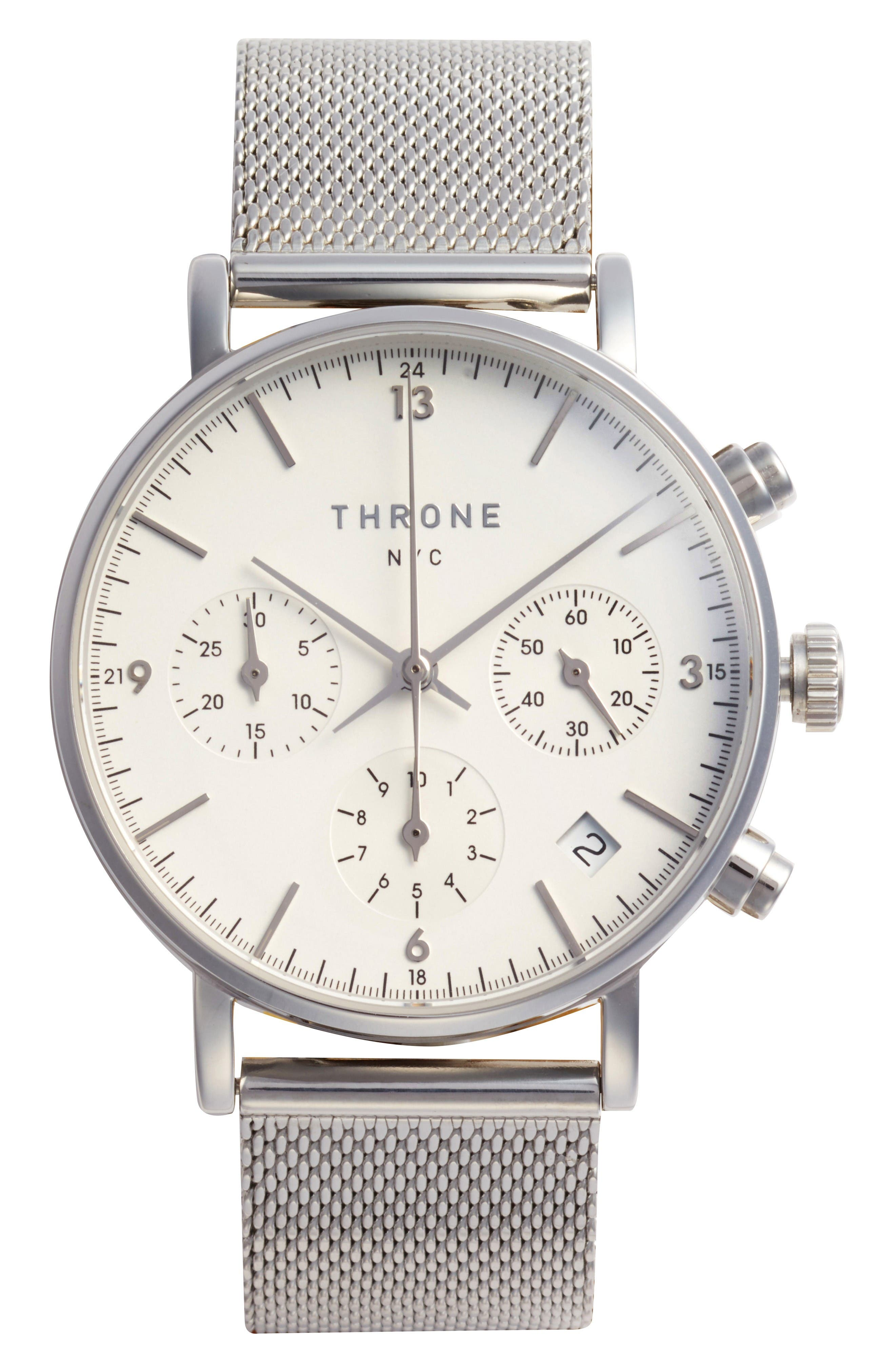 Alternate Image 1 Selected - Throne 2.0 Chronograph Mesh Strap Watch, 40mm