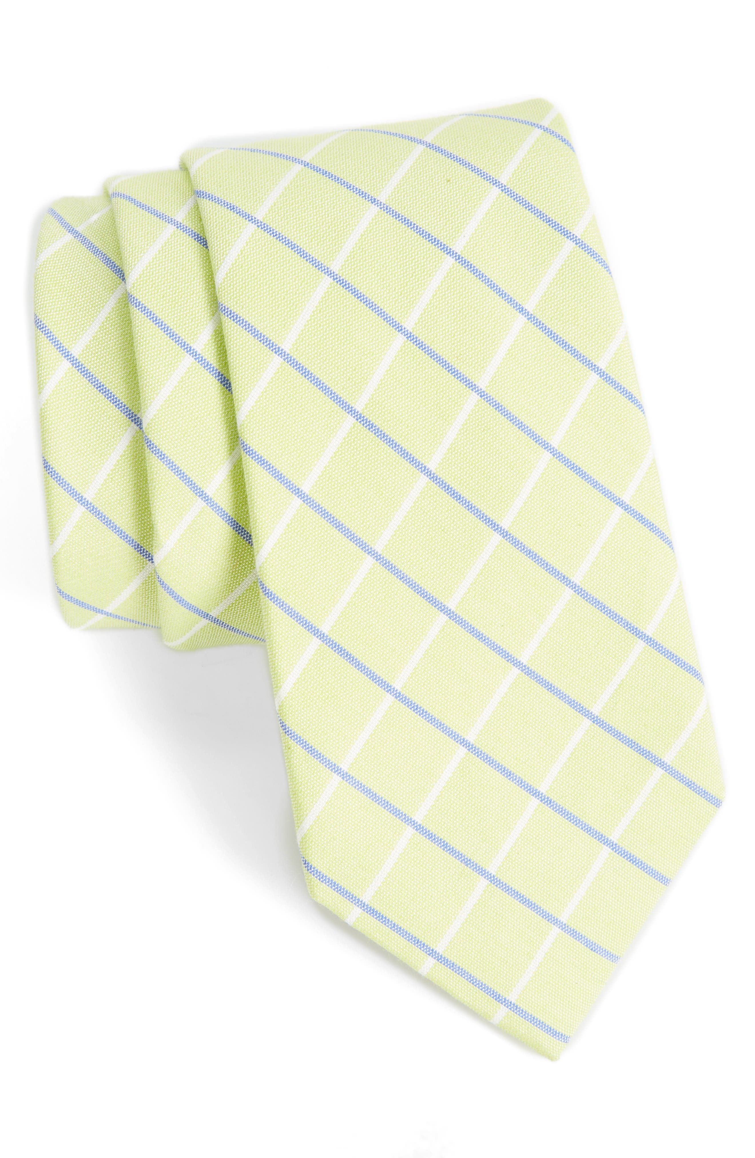 NORDSTROM MENS SHOP Grid Cotton & Silk Tie